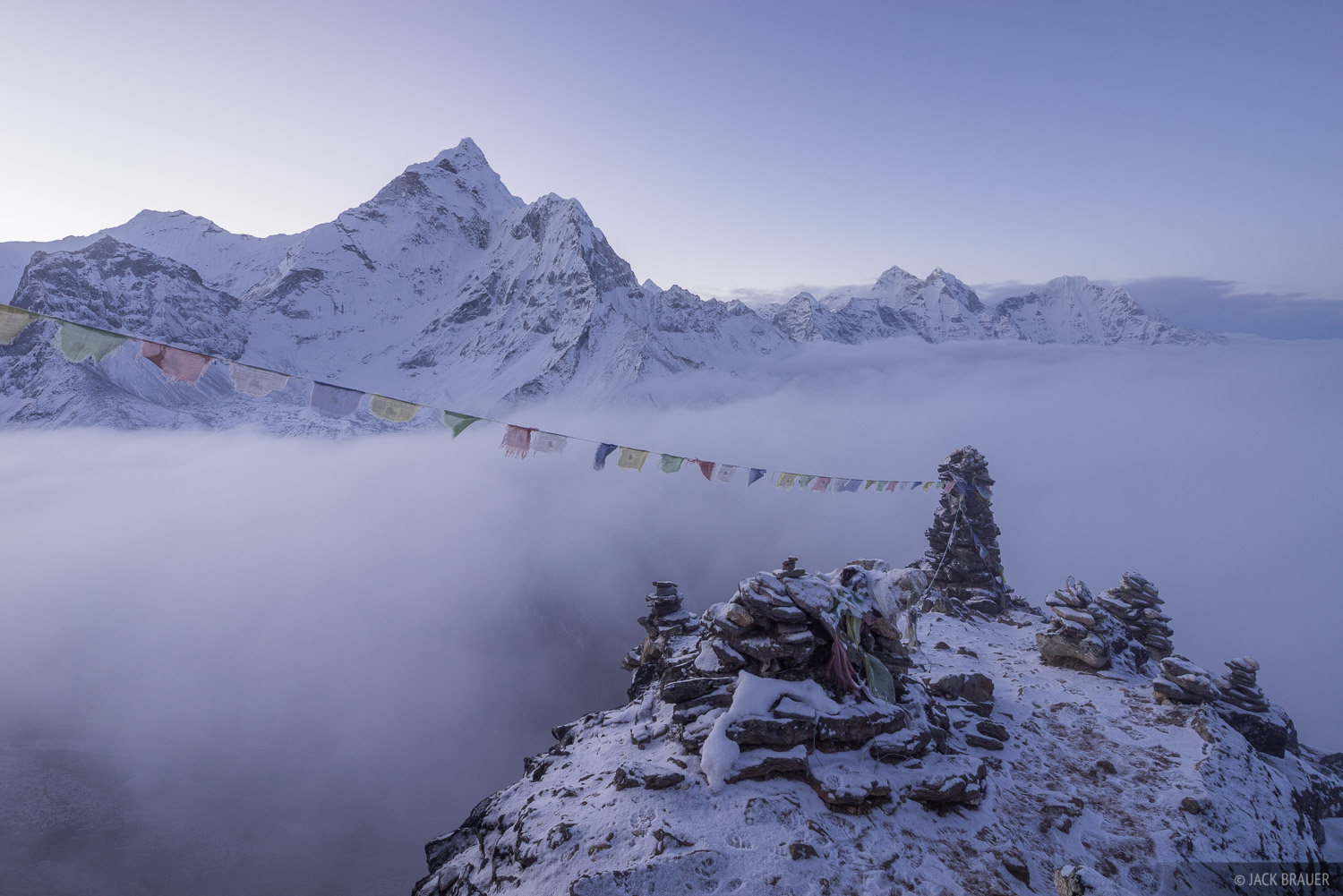 Ama Dablam,Himalaya,Khumbu,Nepal,prayer flags, Dingboche, photo