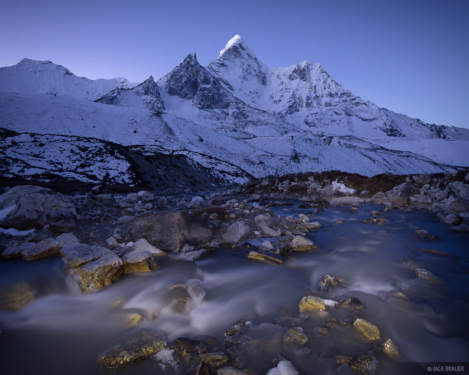 The north side of Ama Dablam at dawn, as seen from Chhukhung.