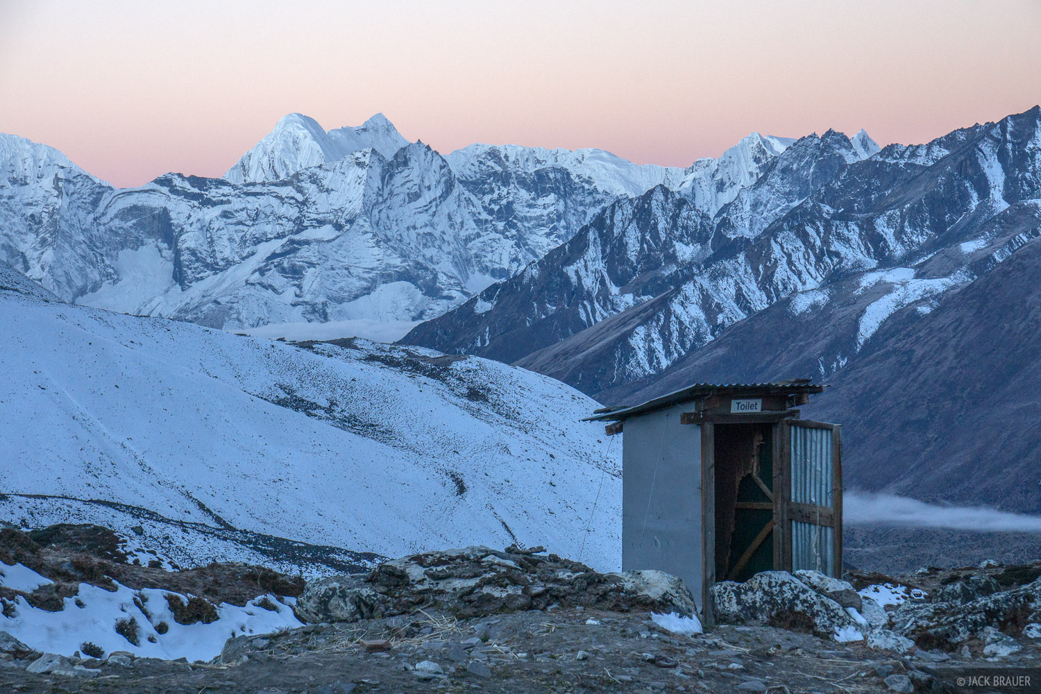 A cold outhouse, but a nice view!