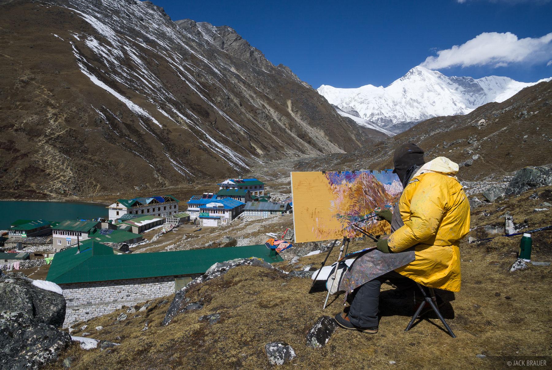 Gokyo,Himalaya,Khumbu,Nepal, painting, photo