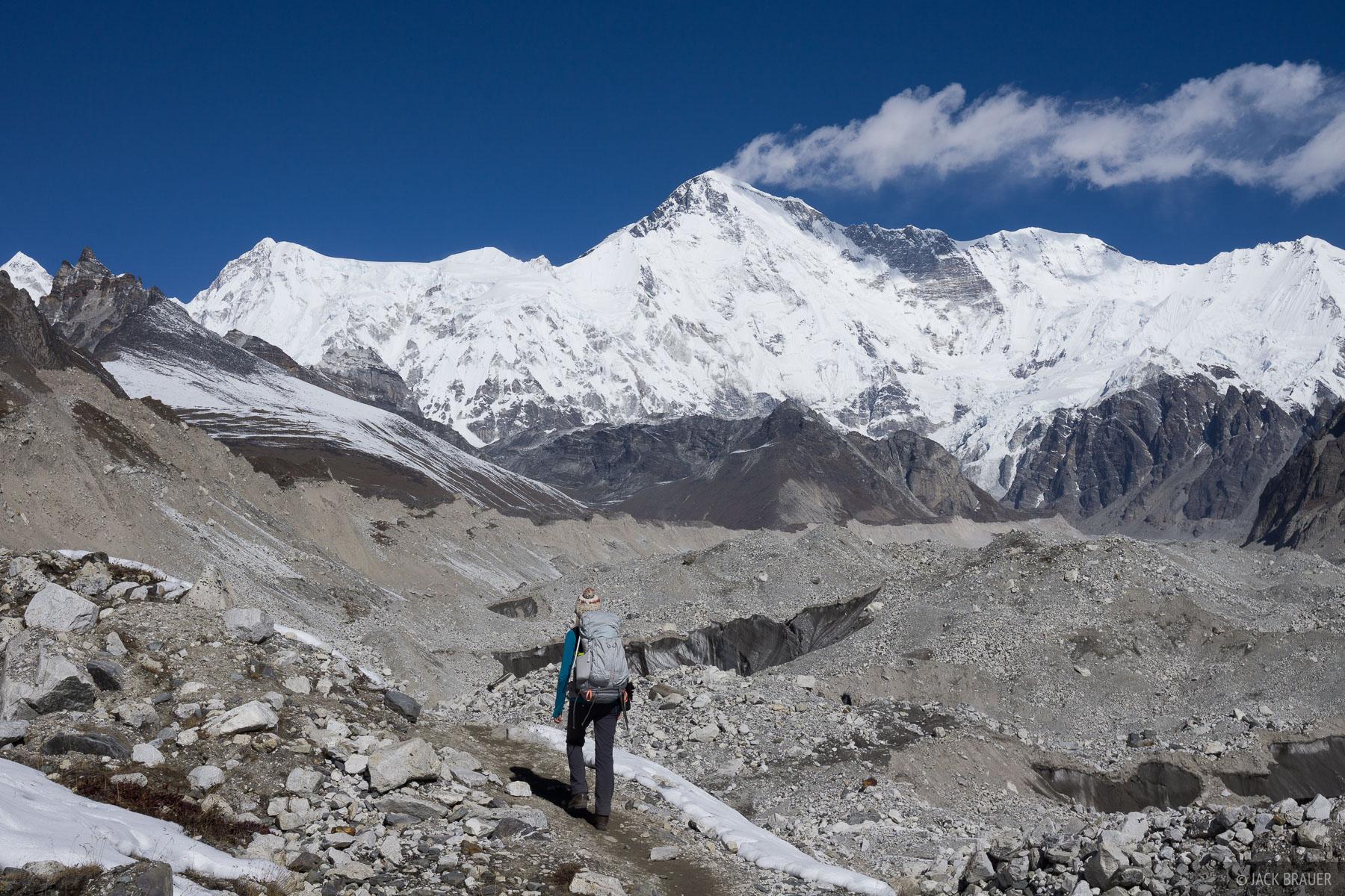 Himalaya,Khumbu,Nepal,Ngozumba Glacier, Cho Oyu, hiking, photo