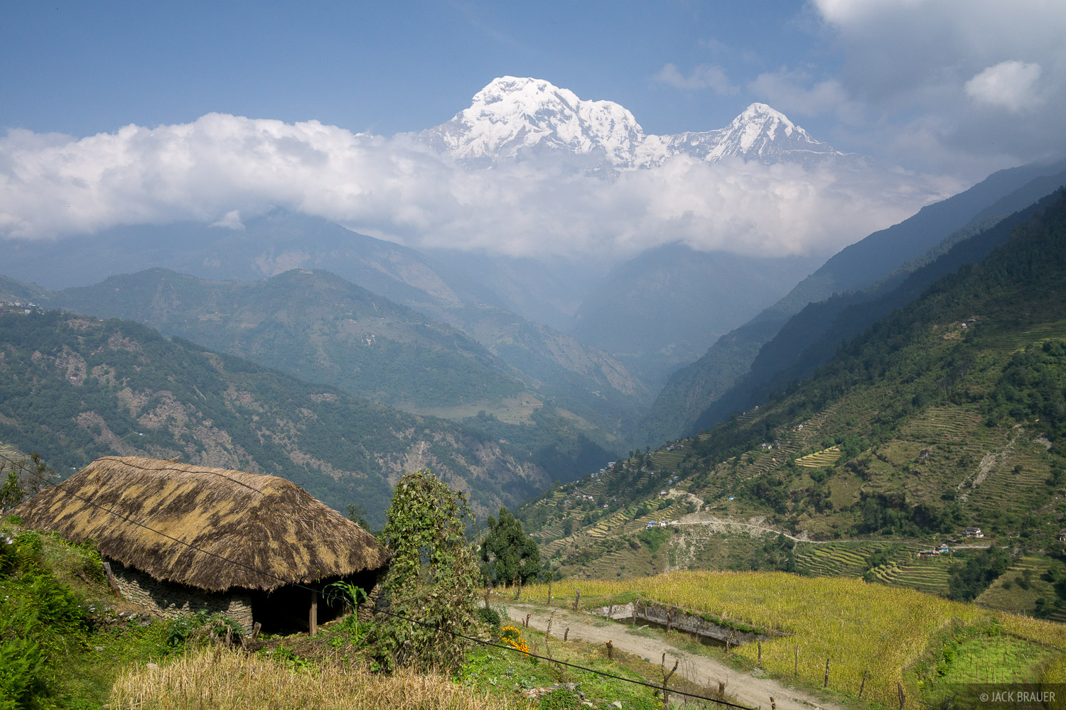 Annapurna South (7219m / 23,684 ft.) as seen from near Tolka.