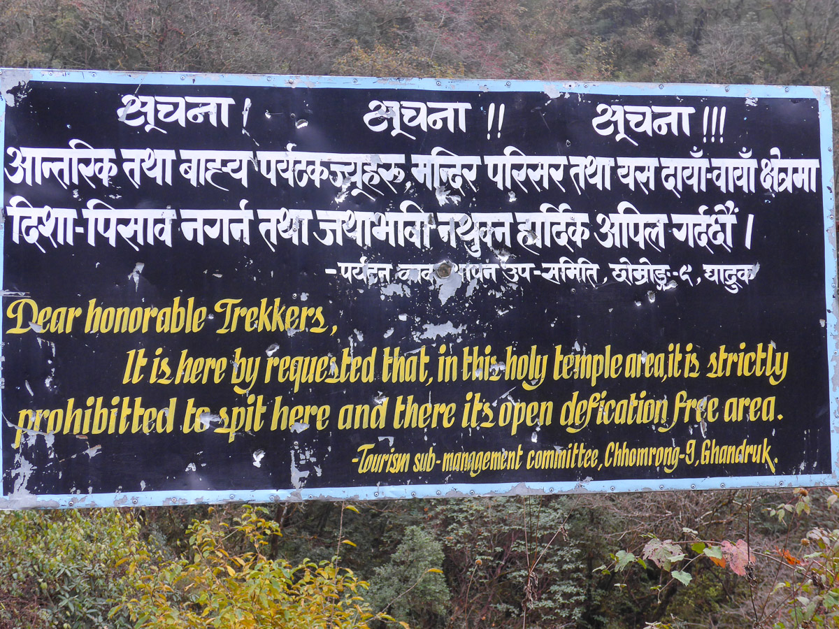 Don't crap on sacred mountains.