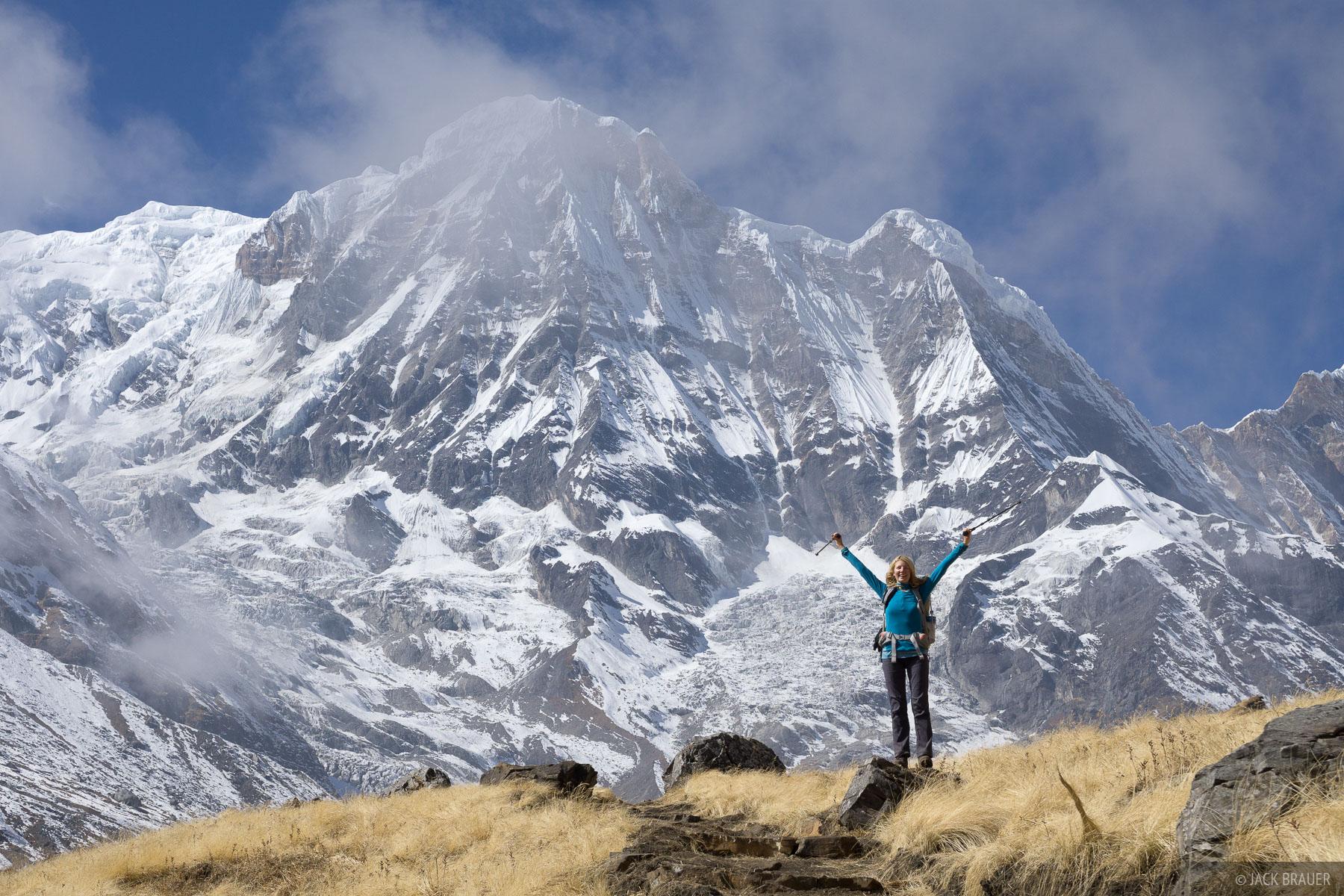 Annapurna South, Annpurna Range, Asia, Himalaya, Nepal, hiking, photo