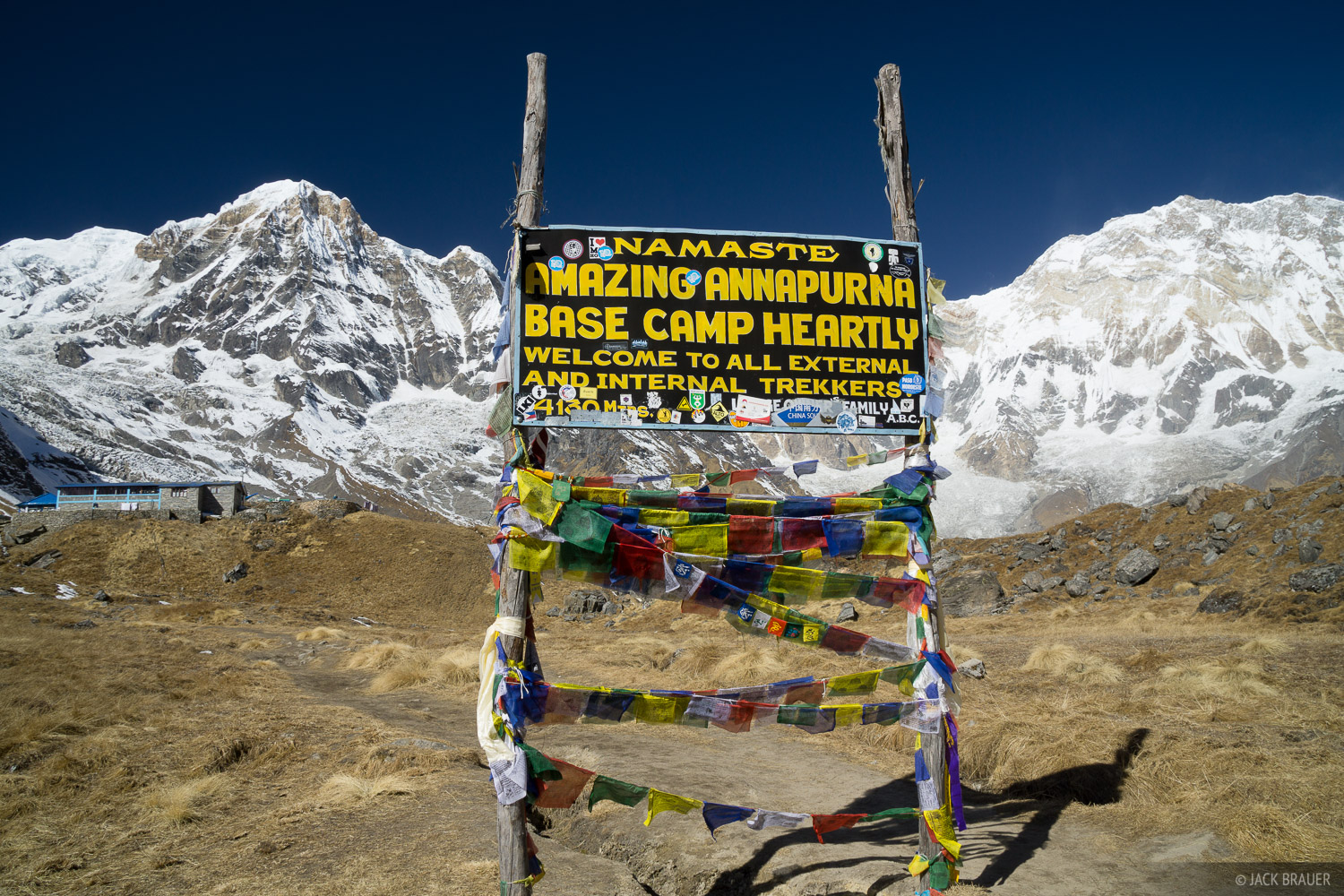 Annapurna,Annapurna Base Camp,Annapurna South,Himalaya,Nepal, sign, photo