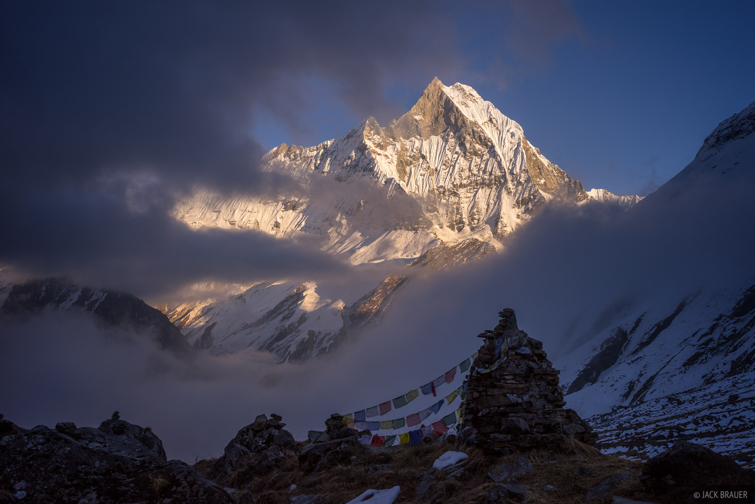 Machhapuchhre Revealed Annapurna Himal Nepal Mountain
