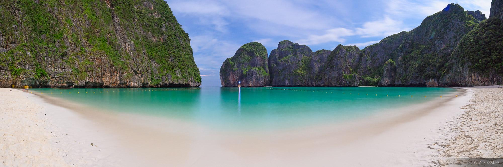 Maya Bay Moonlight Panorama Ko Phi Phi Leh Thailand