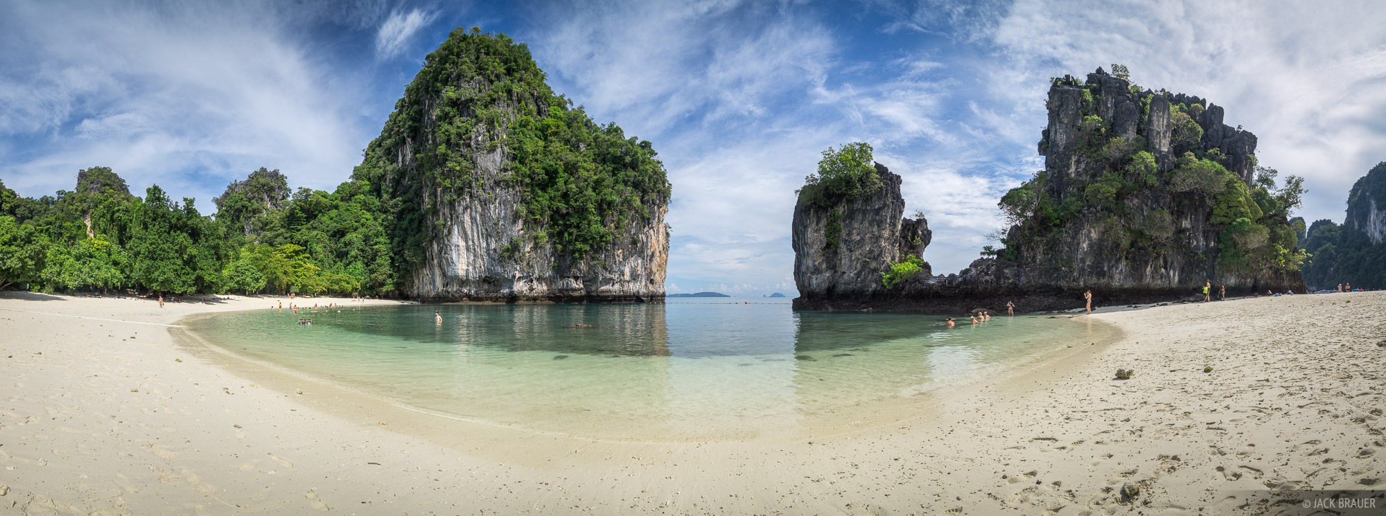 Ko Hong, Thailand, Andaman Sea, beach, panorama