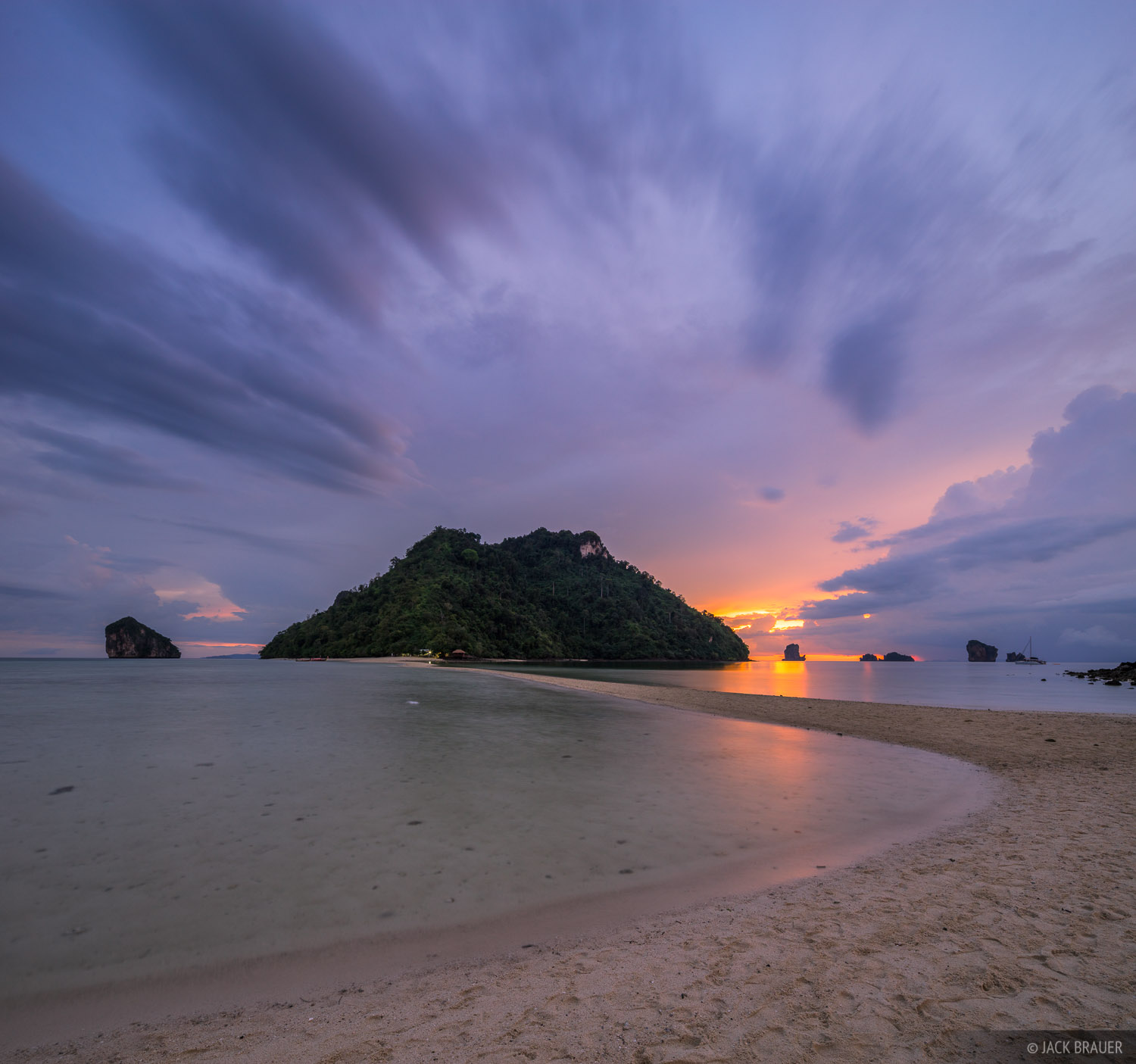 Andaman Sunset : Krabi, Thailand : Mountain Photography by Jack Brauer