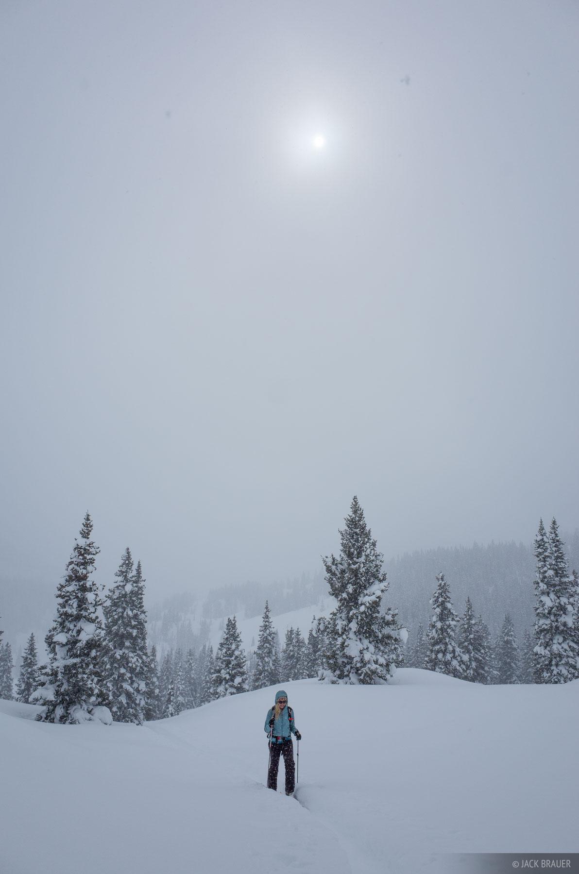 Colorado, Red Mountain Pass, San Juan Mountains, skiing, skinning, hiking, February, winter, active, 2015