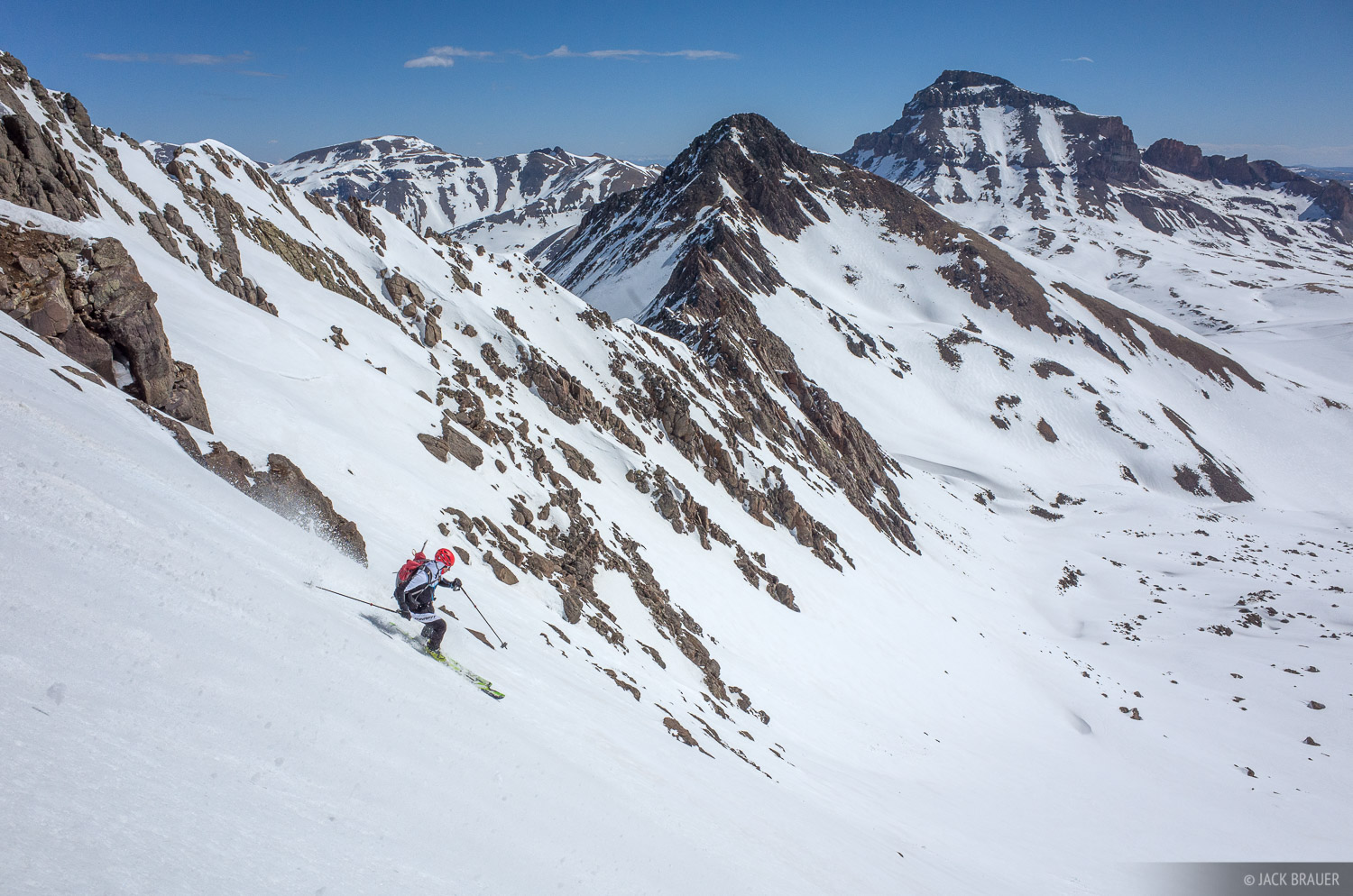 Colorado, San Juan Mountains, Uncompahgre Wilderness, Wetterhorn Peak, skiing, Uncompahgre Peak, photo