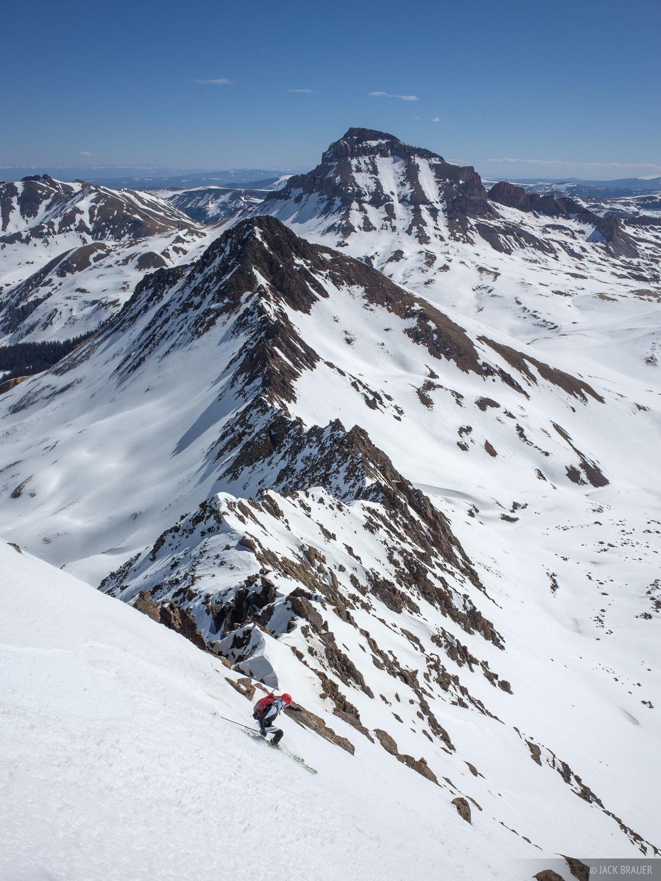 Colorado, San Juan Mountains, Uncompahgre Wilderness, Wetterhorn Peak, skiing, Uncompahgre Peak, photo