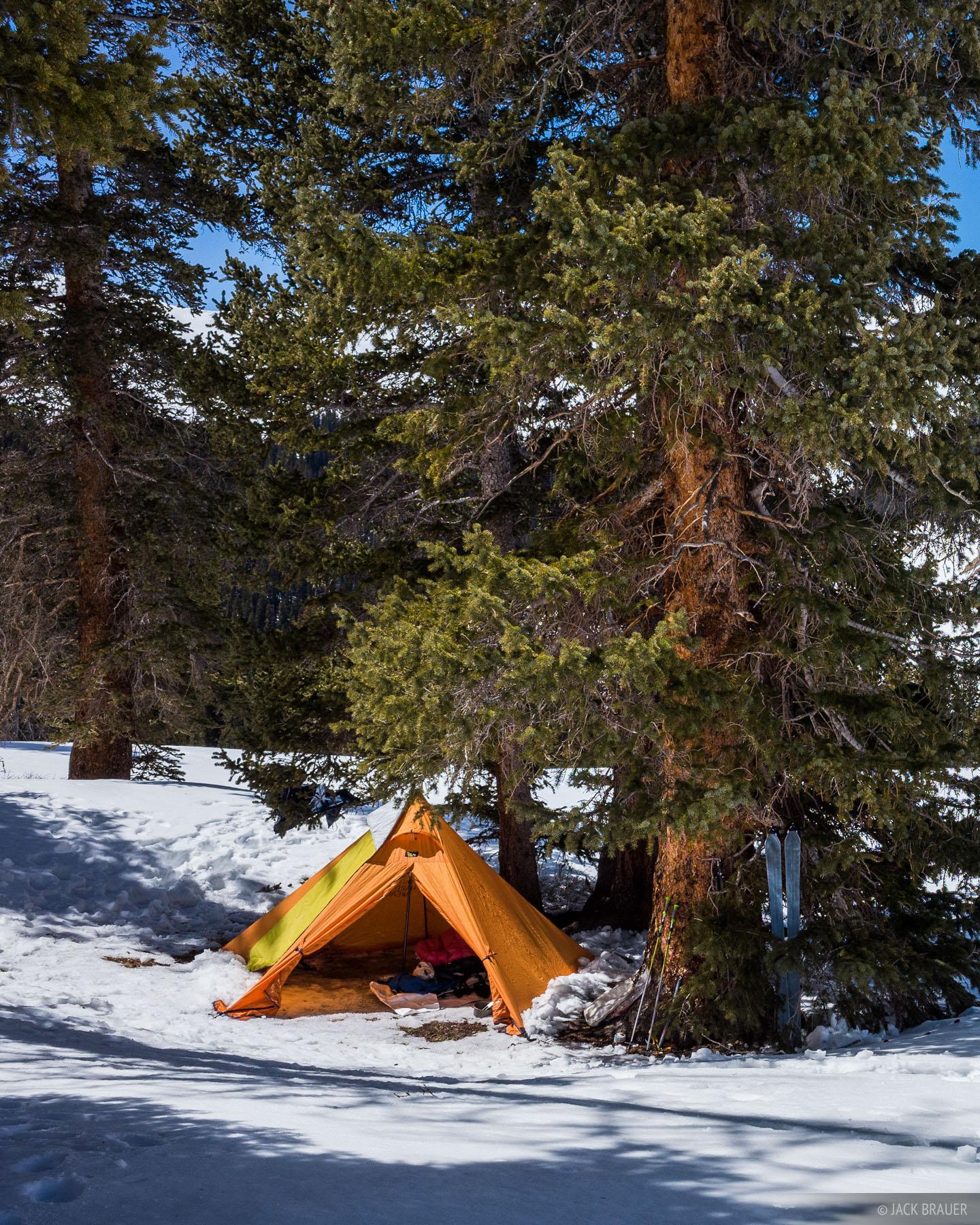 Colorado, San Juan Mountains, Uncompahgre Wilderness, tent, photo