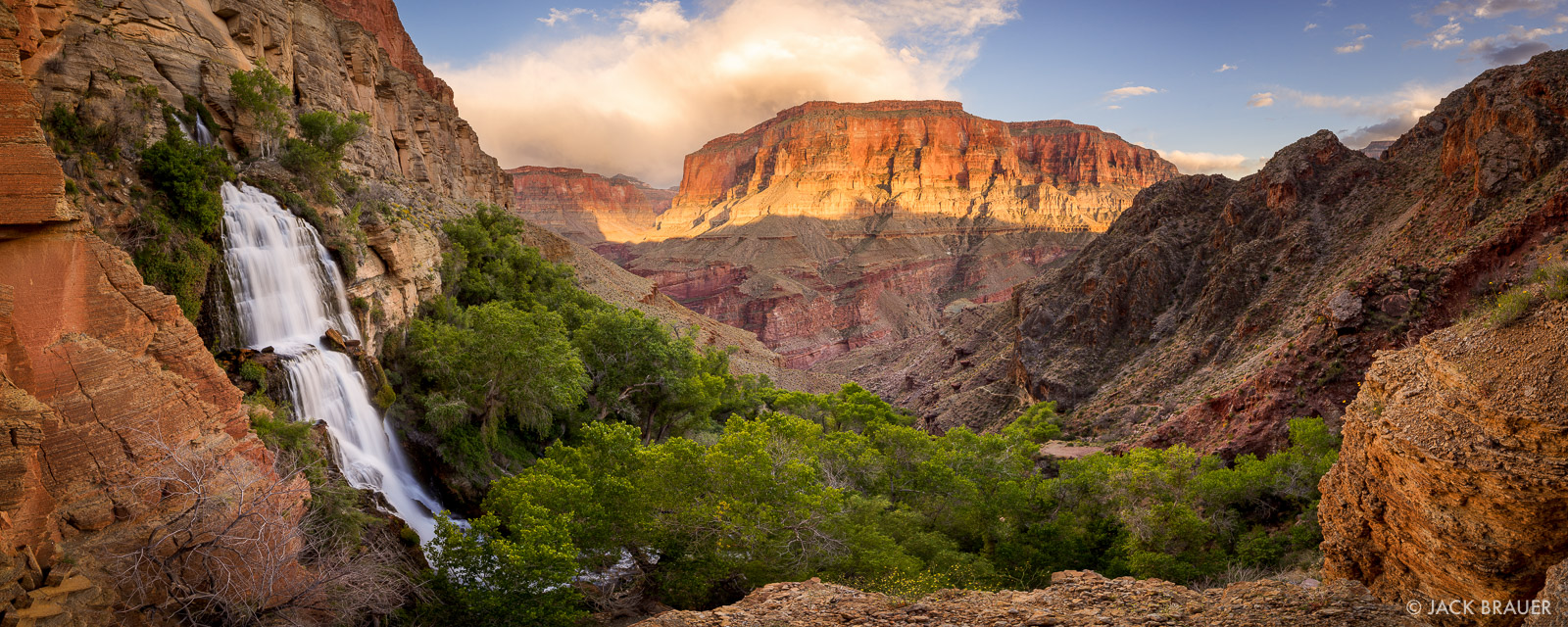 Arizona,Grand Canyon,Thunder River,panorama,waterfall, photo