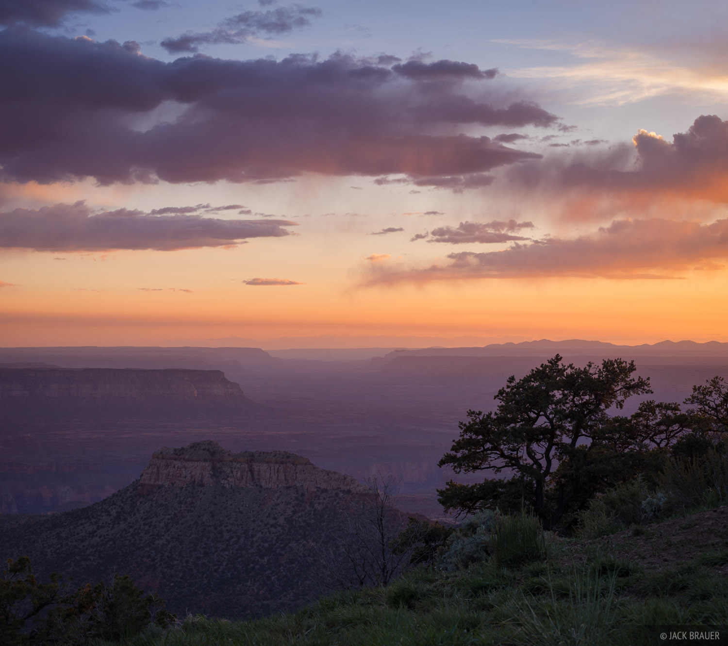 Sunset over the Grand Canyon, as seen from near Crazy Jug Point.
