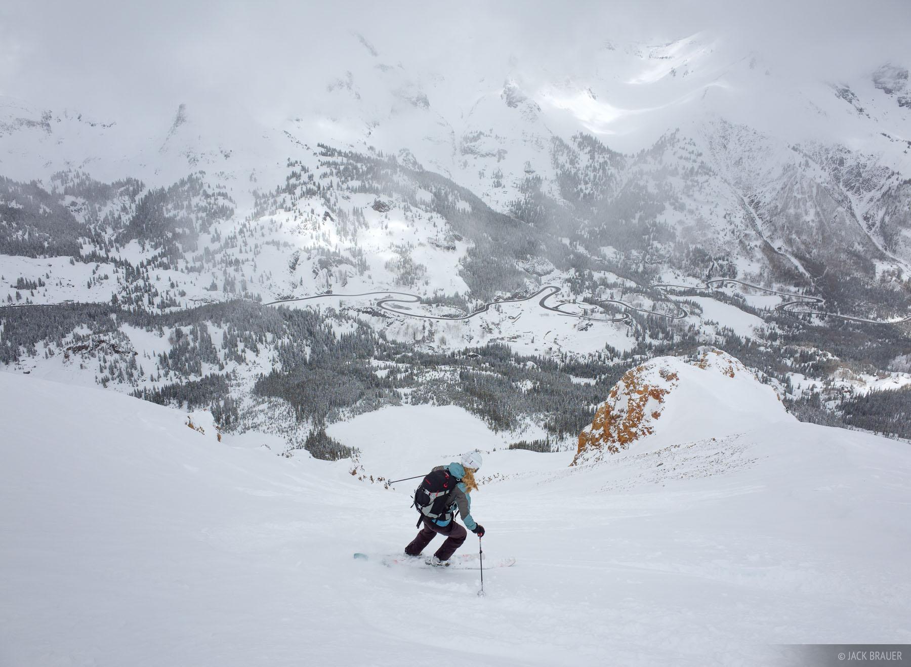 Colorado,Red Mountain Pass,San Juan Mountains, skiing, photo