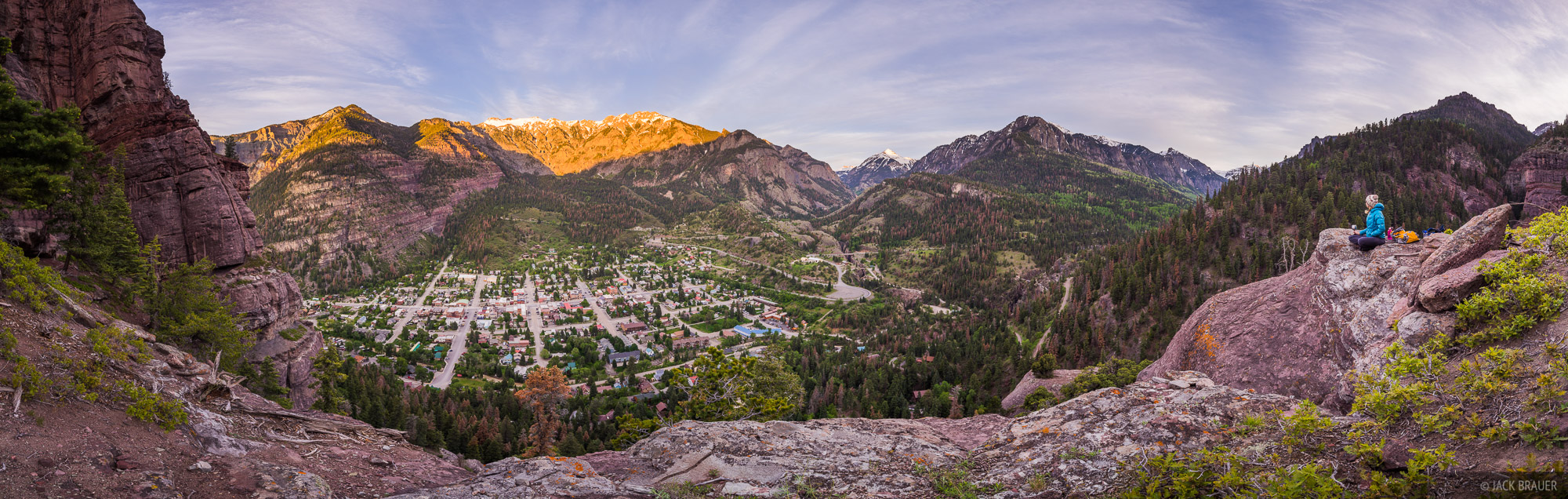 Ouray, San Juan Mountains, Colorado, panorama, June