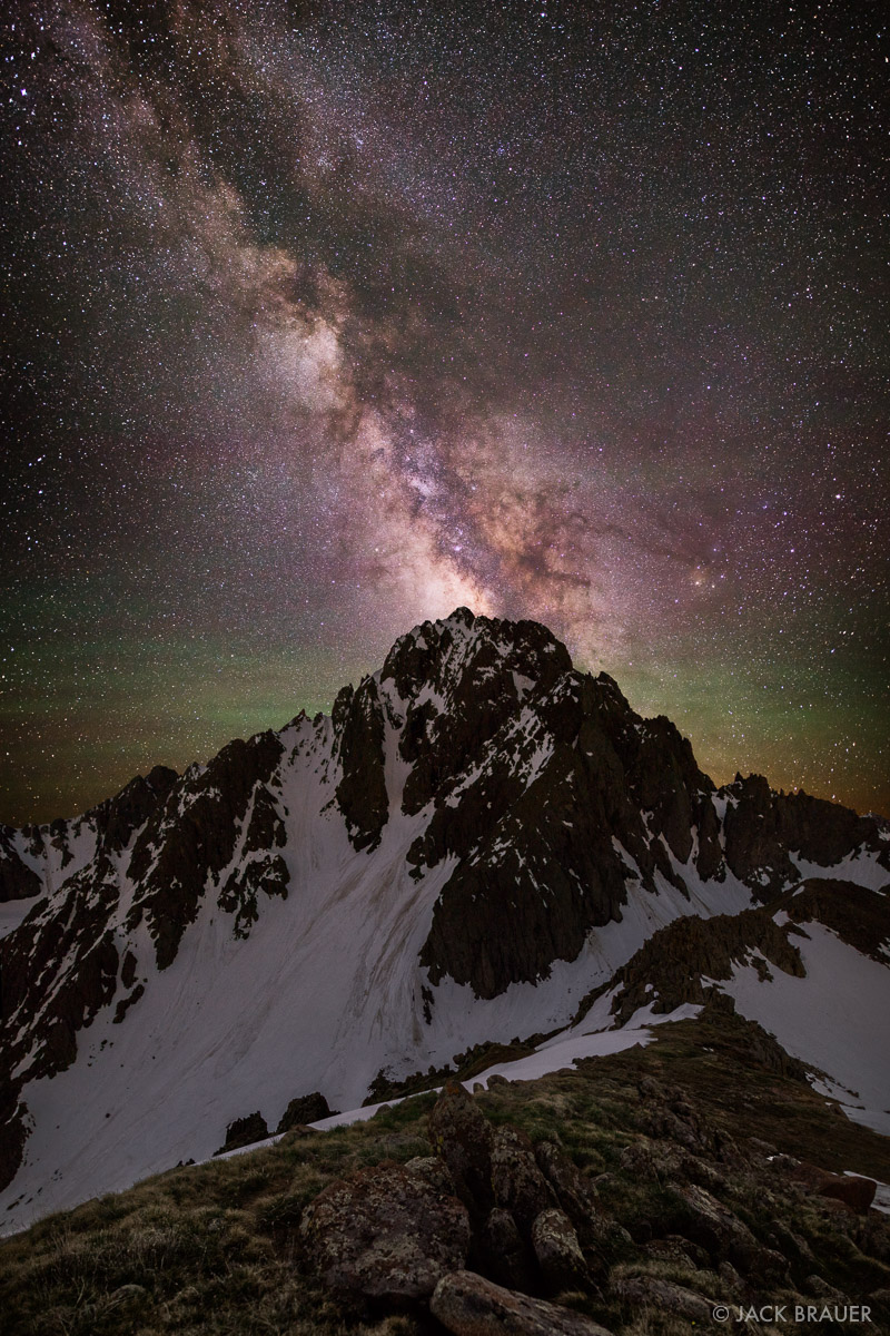 Colorado,Mt. Sneffels,San Juan Mountains,Sneffels Range,stars, Milky Way, galaxy