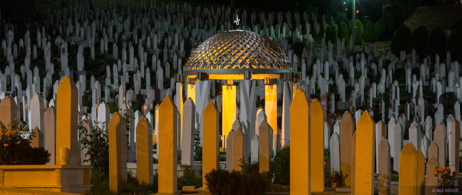 One of the numerous cemeteries for over 11,000 people who were killed in Sarajevo during the bloody siege of the city from 1992...