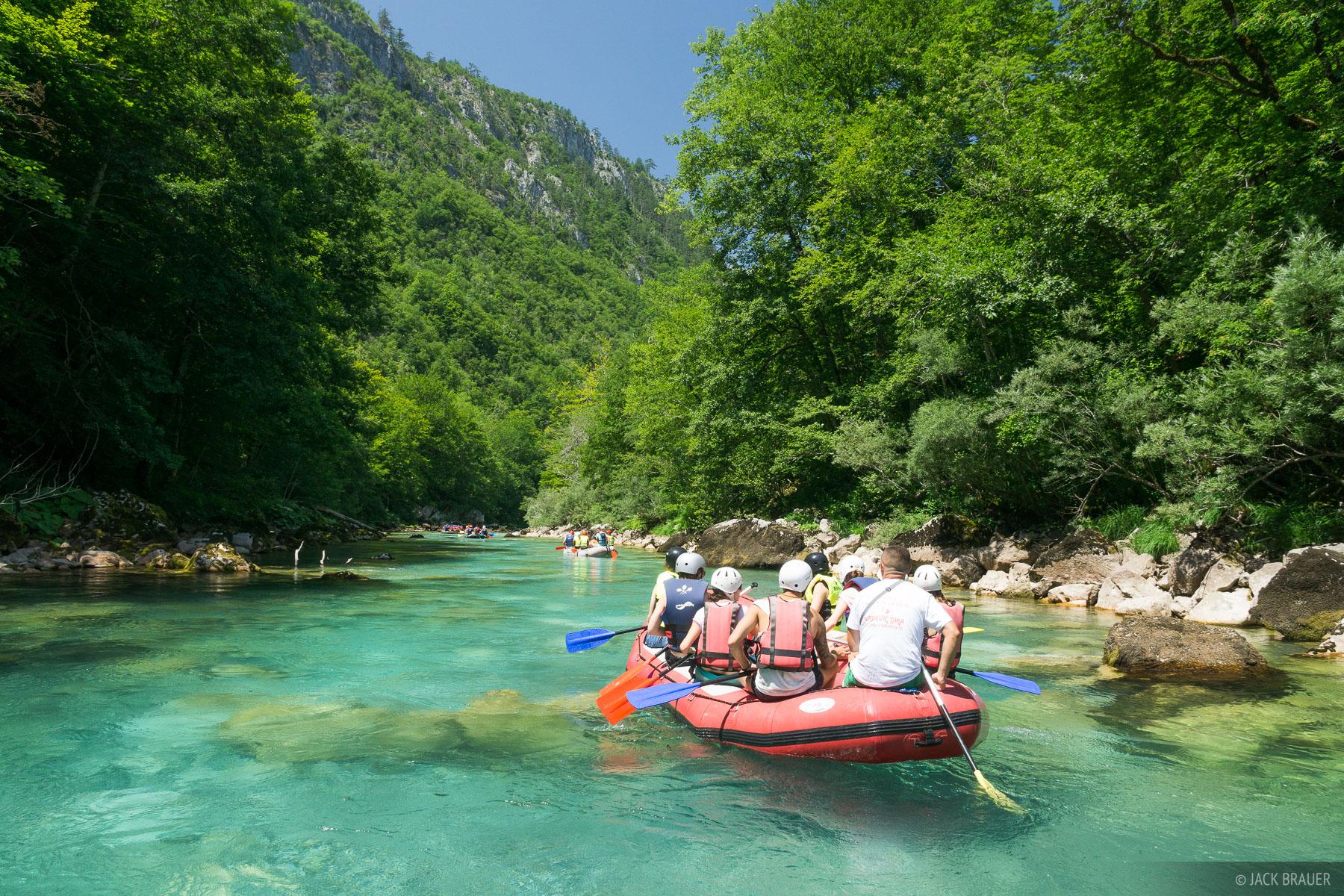 Tara River, Montenegro, rafting, photo