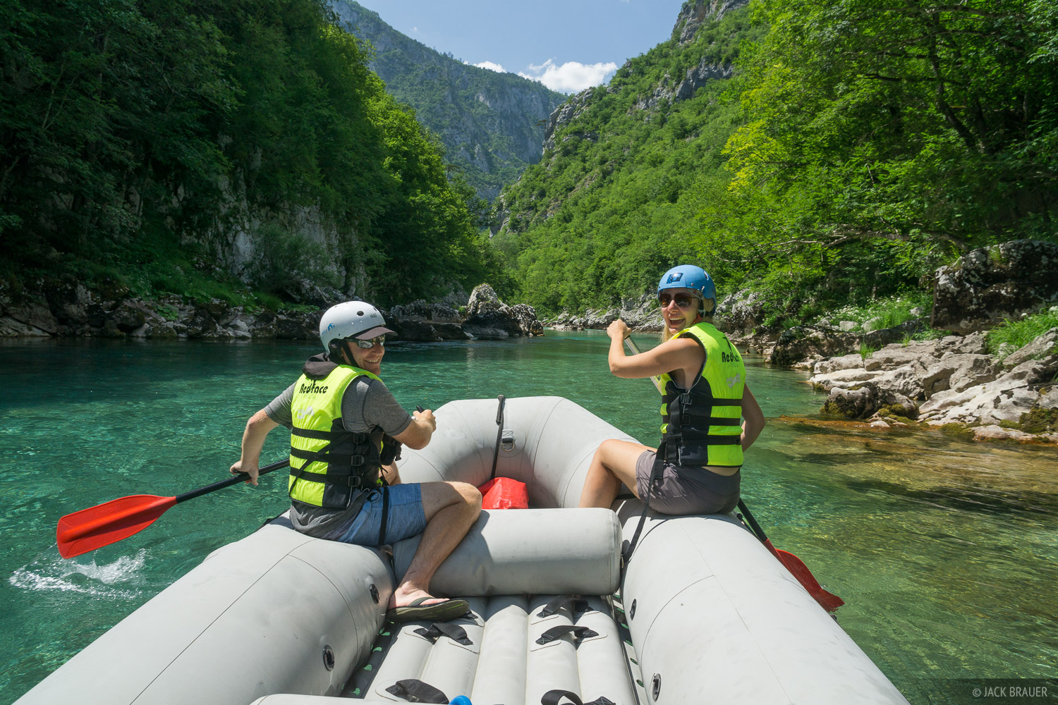 Rafting the Tara River in Montenegro.