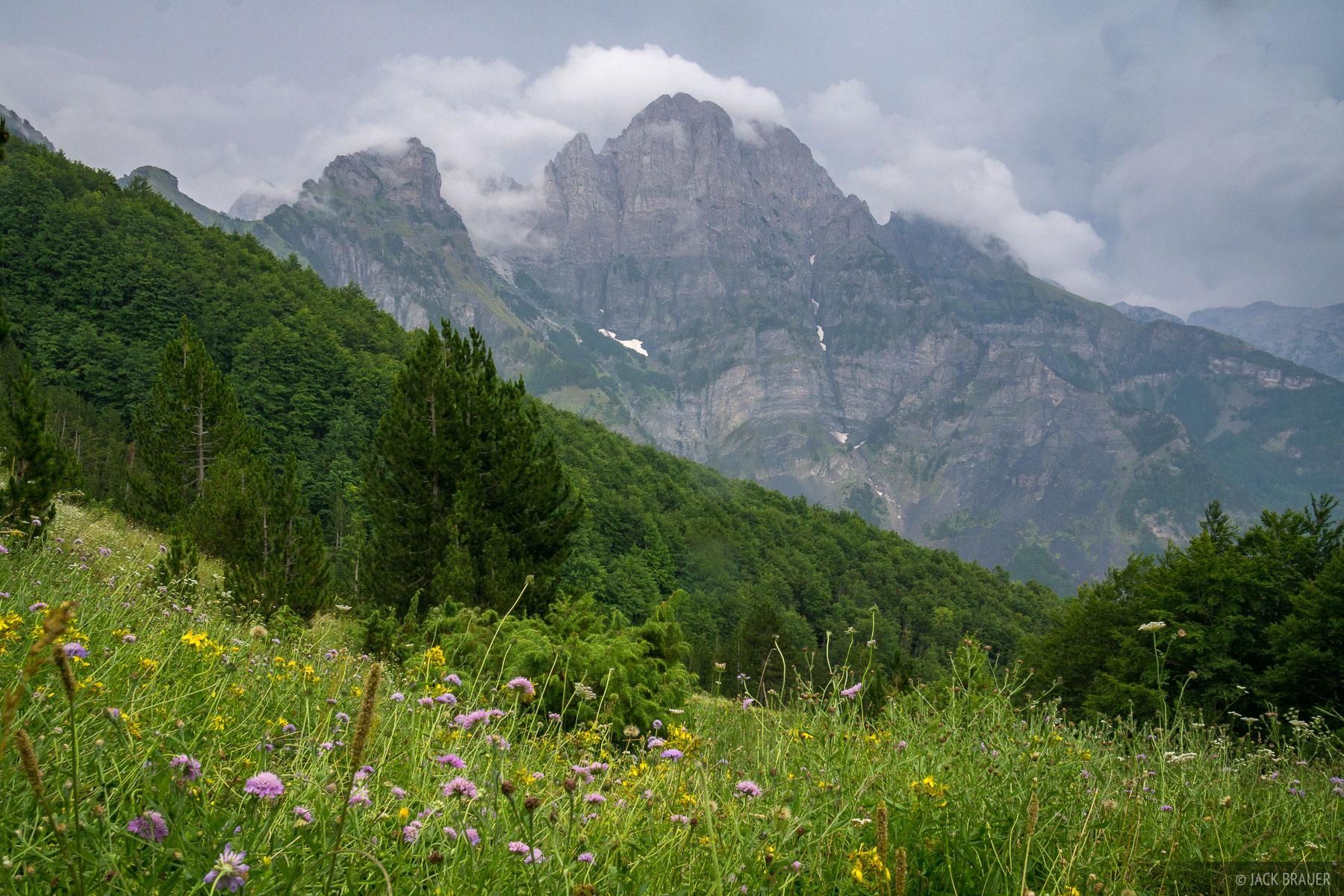 Misty mountain near Qafa e Valbones, the pass between Valbona and Thethi.