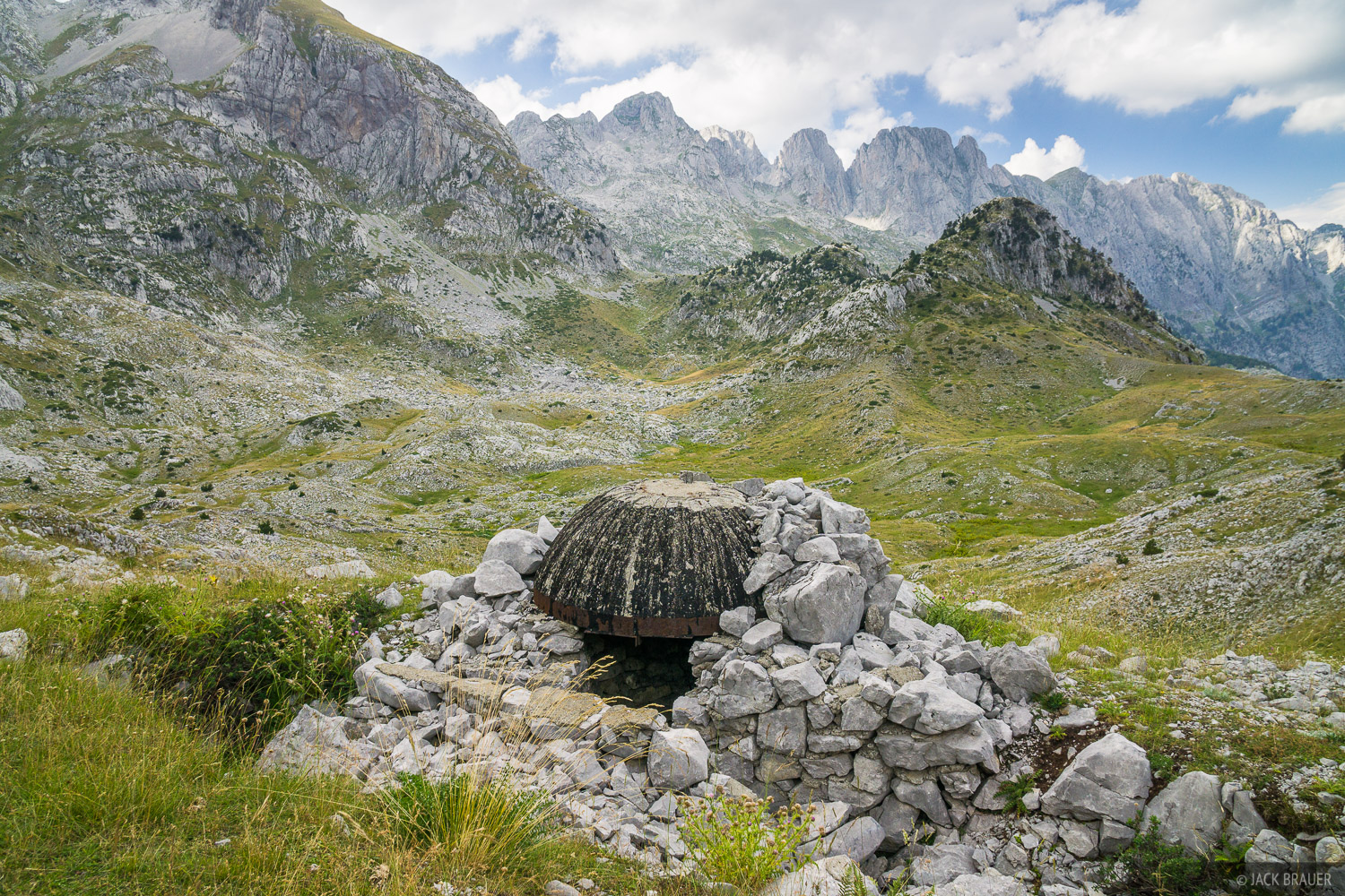 One of the many old hidden bunkers scattered in the mountainsides near the border of Albania and Montenegro.