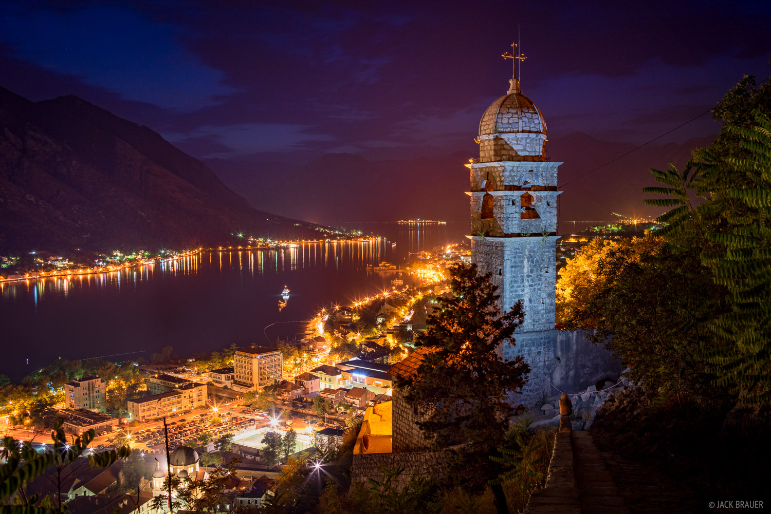 Kotor At Night Kotor Montenegro Mountain Photography
