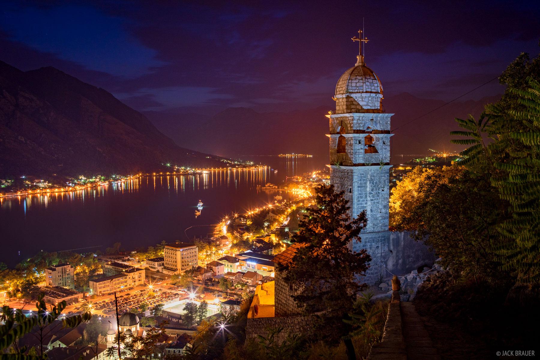 Kotor At Night Kotor Montenegro Mountain Photography