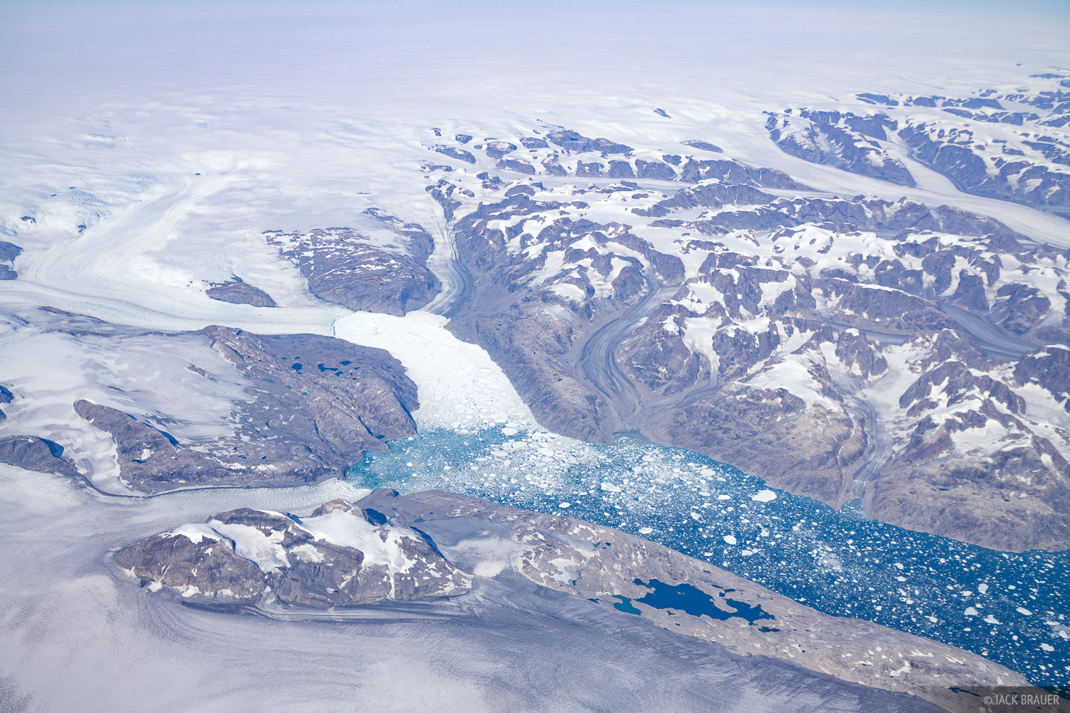 Greenland, aerial, glacier, photo