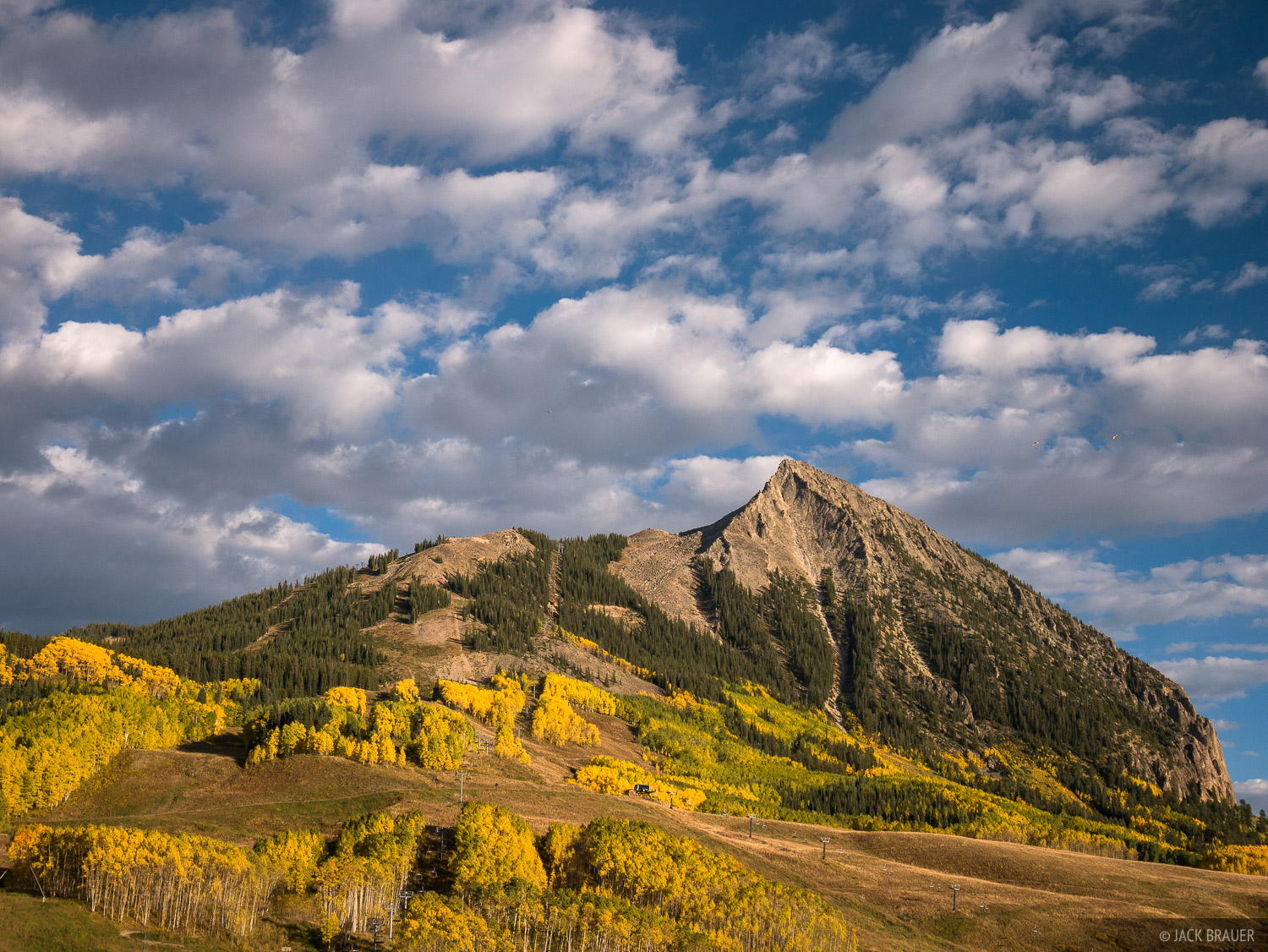 Clouds over Mt. Crested Butte - September.