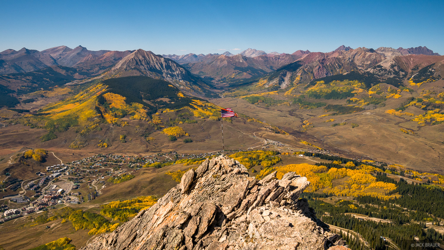 View from the summit of Mt. Crested Butte - September.