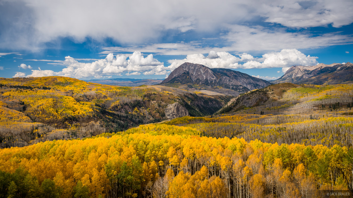 Colorado,Elk Mountains,Kebler Pass, Marcellina, aspens, October