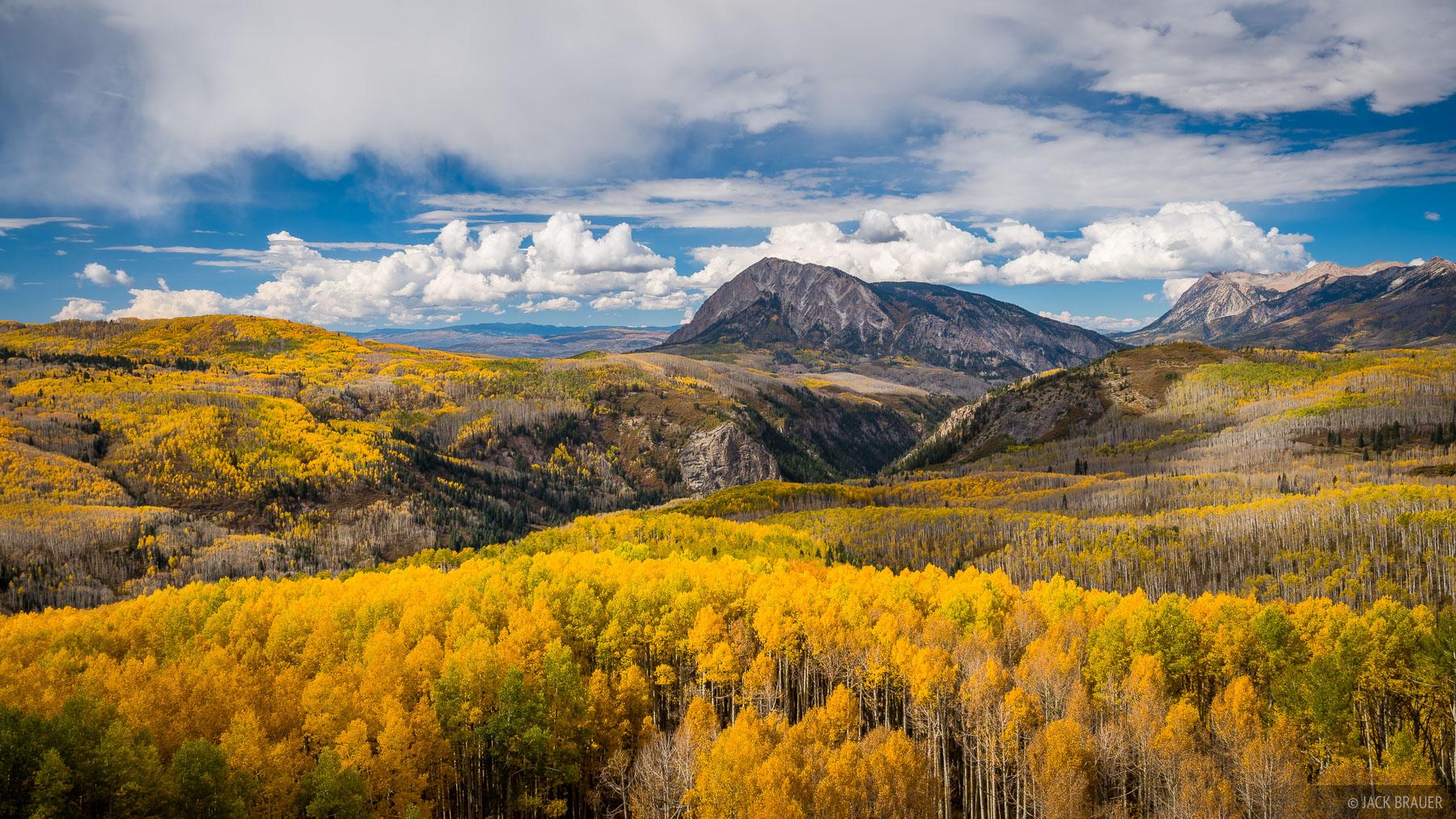 Colorado,Elk Mountains,Kebler Pass, Marcellina, aspens, October