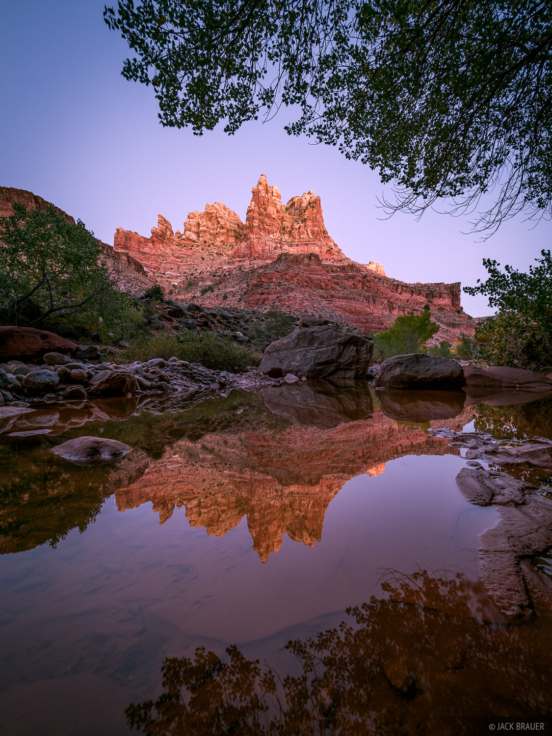 Dark Canyon,Utah, dusk, reflection