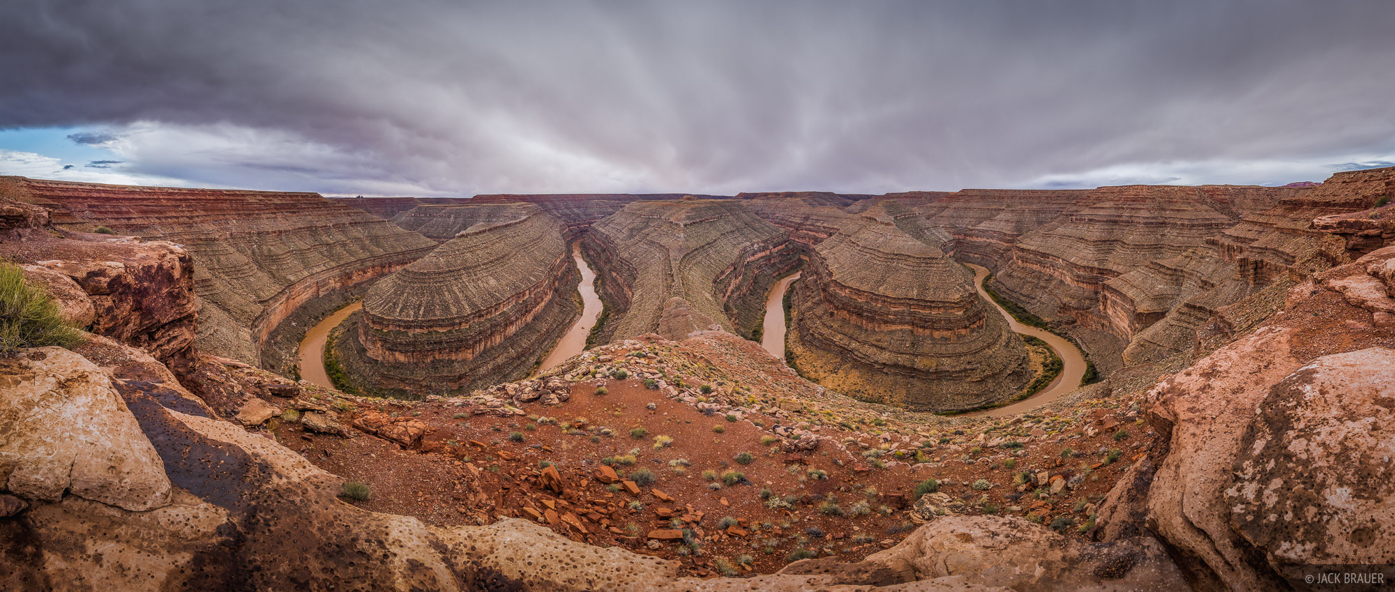 Goosenecks State Park, Utah, panorama, photo