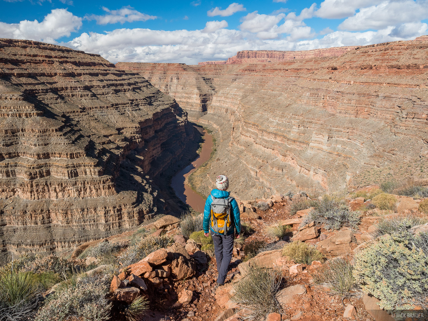 Hiking the Honaker Trail down to the San Juan River.
