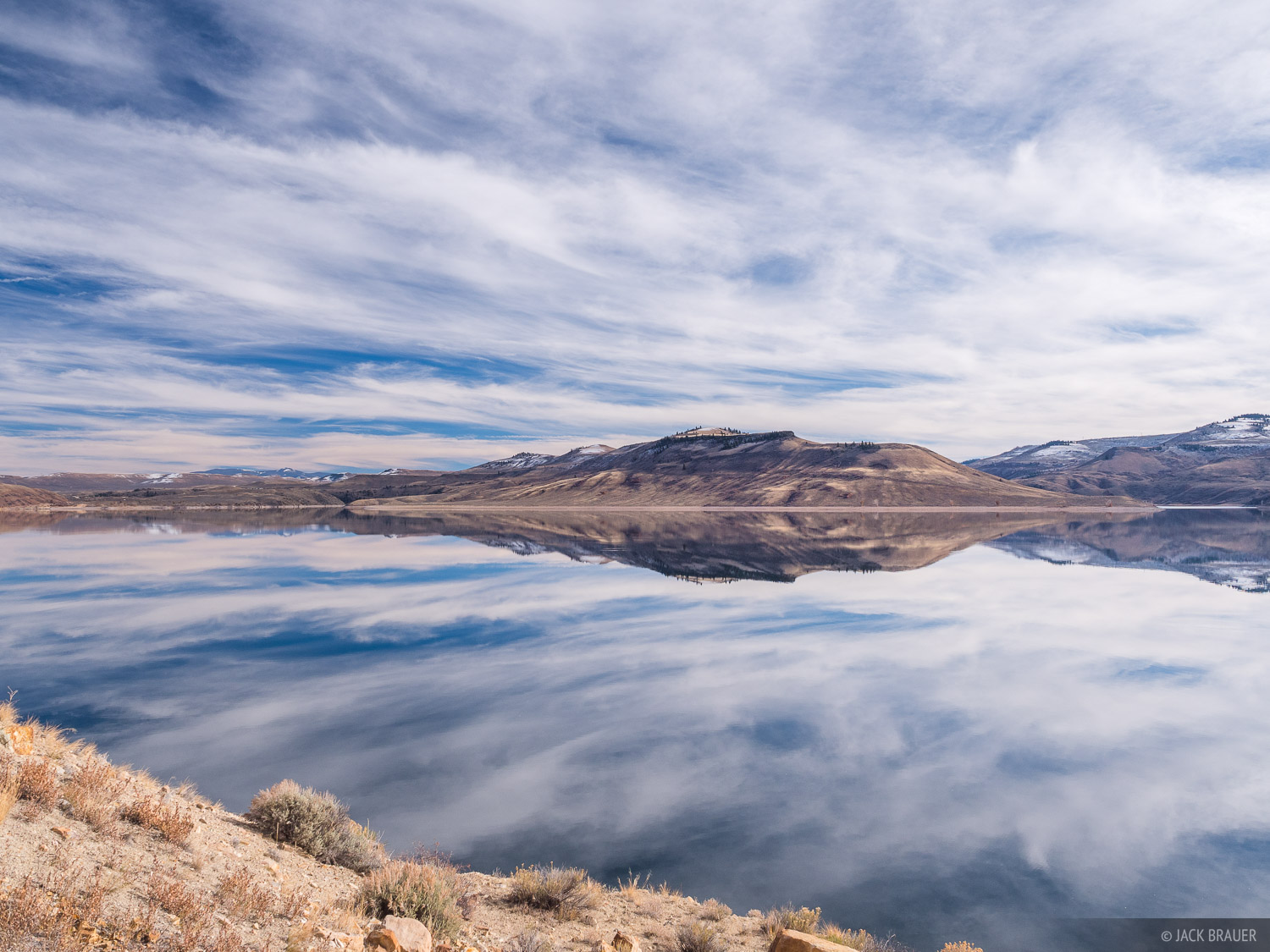 Blue Mesa Reservoir,Colorado, reflection, photo