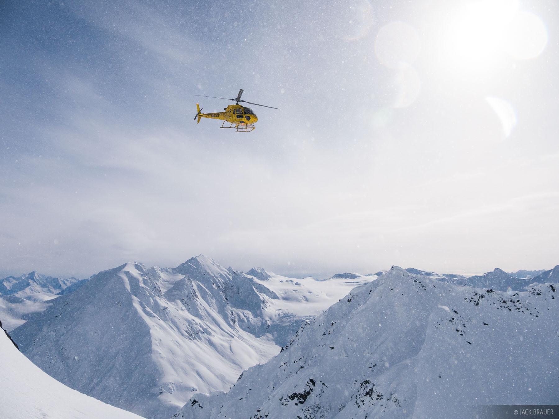 Alaska, Haines, helicopter, Takhinsha Mountains, photo