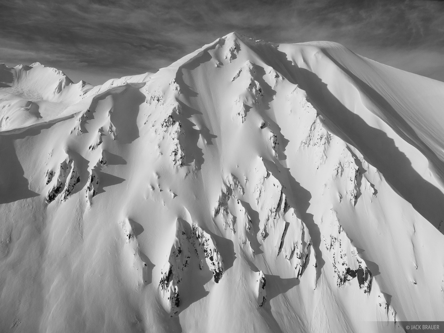 Alaska, Haines, bw, Takhinsha Mountains, photo
