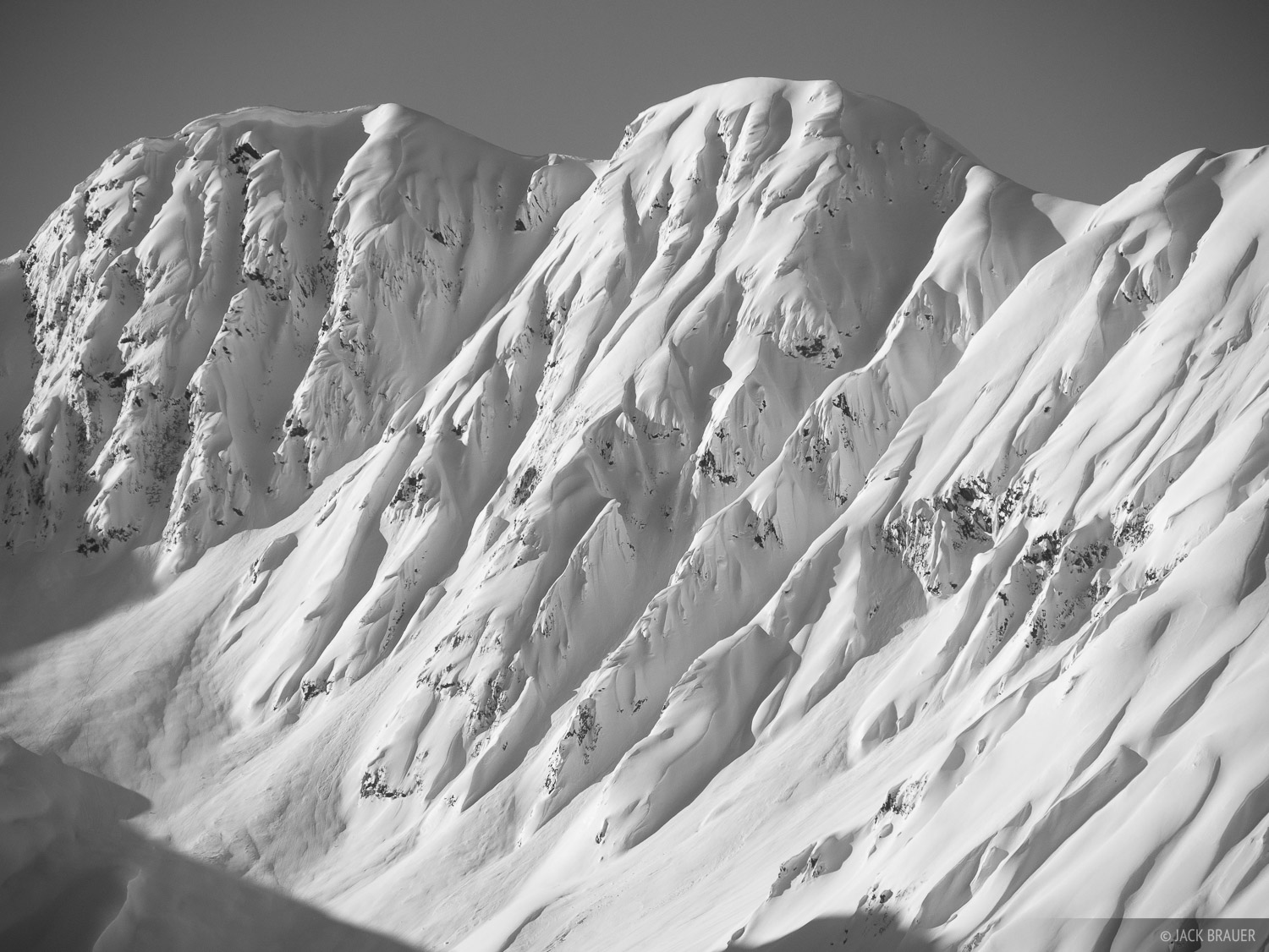 Alaska, Haines, bw, March, winter, 2016, black and white