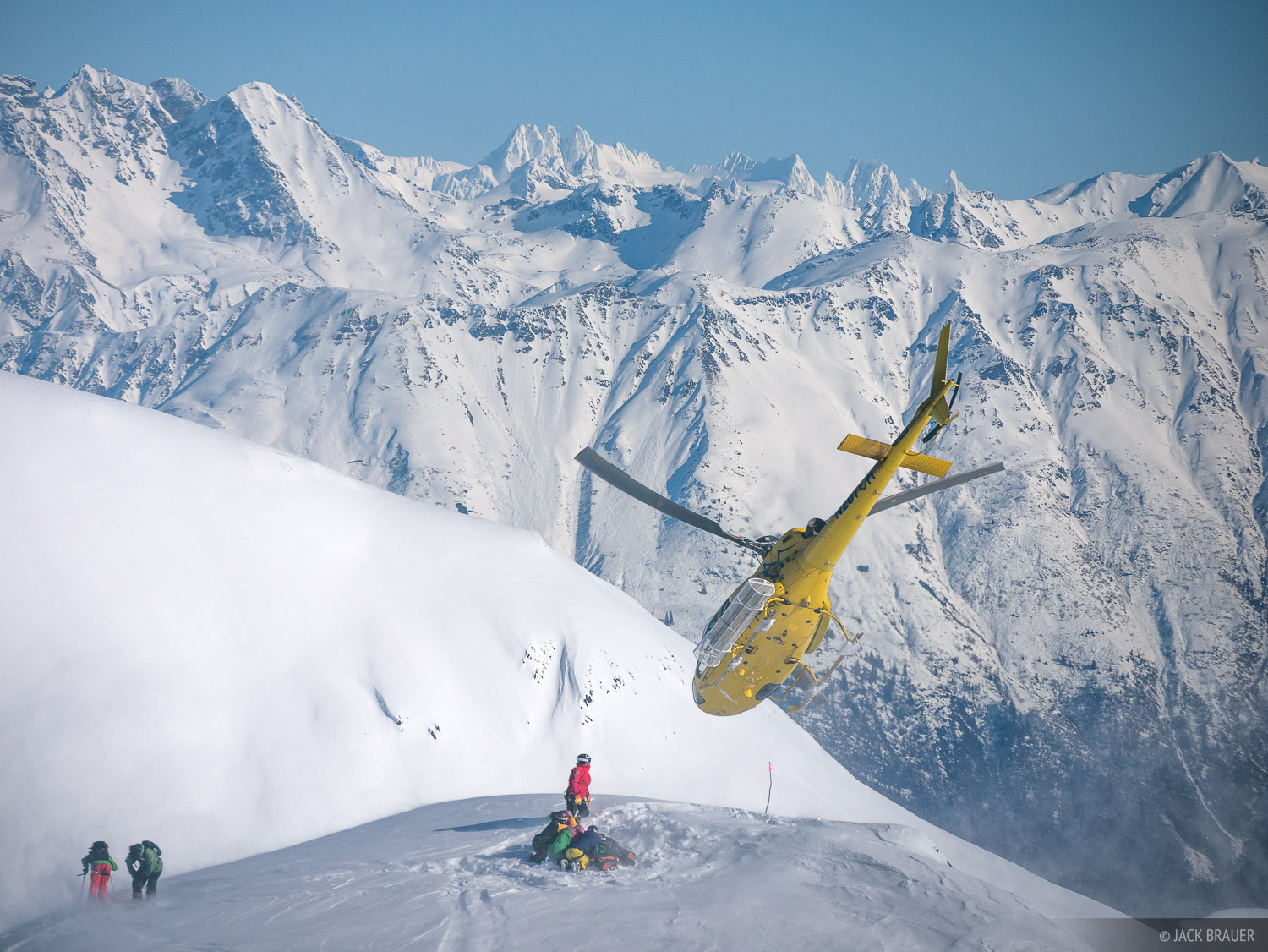 Alaska, Haines, helicopter, Takhinsha Mountains, photo