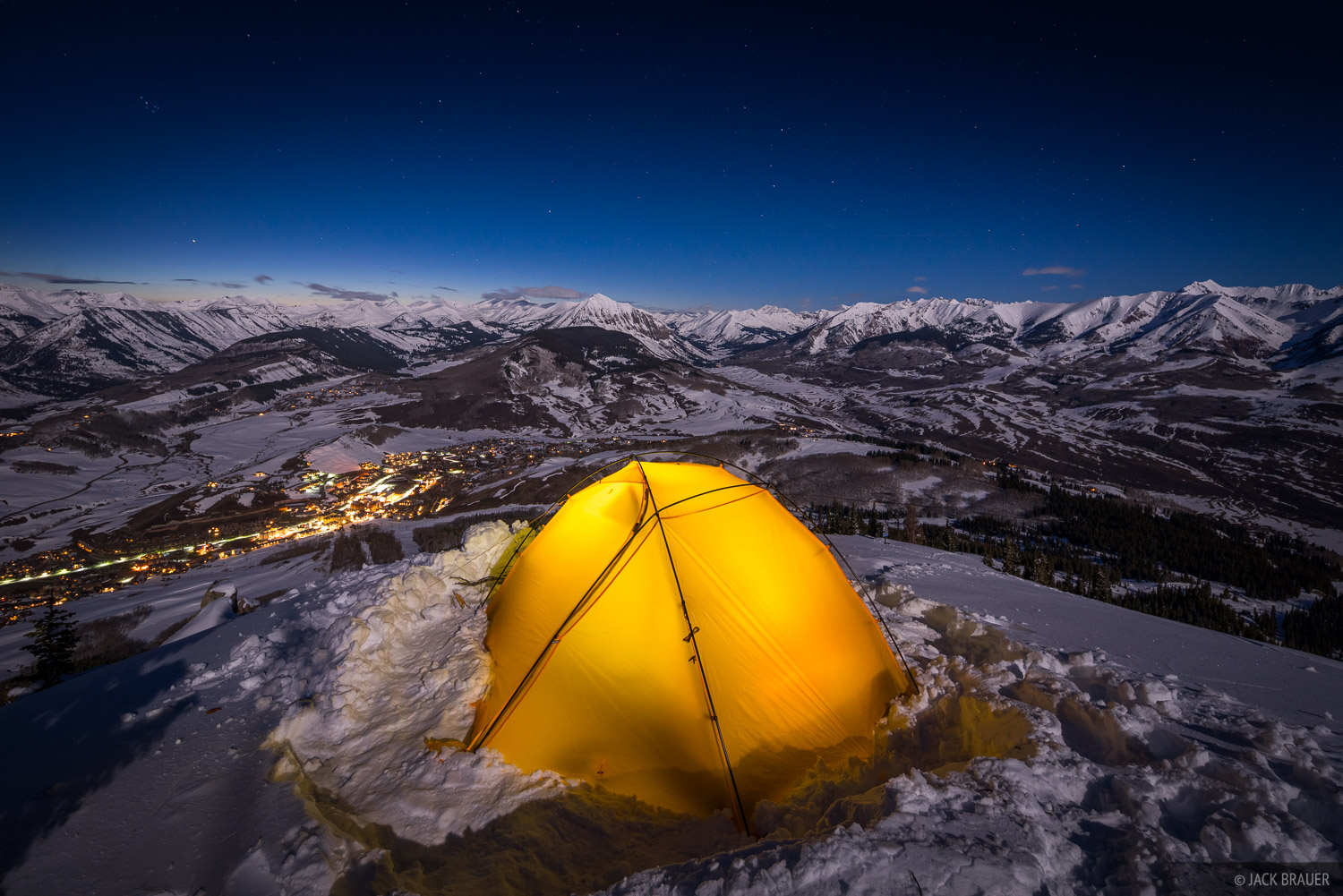 Colorado, Crested Butte, tent, moonlight, Ruby Range, Elk Mountains, photo