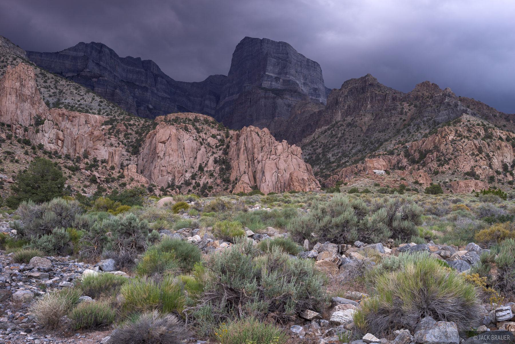 Ominous thunderclouds over Notch Peak in the House Range of western Utah.