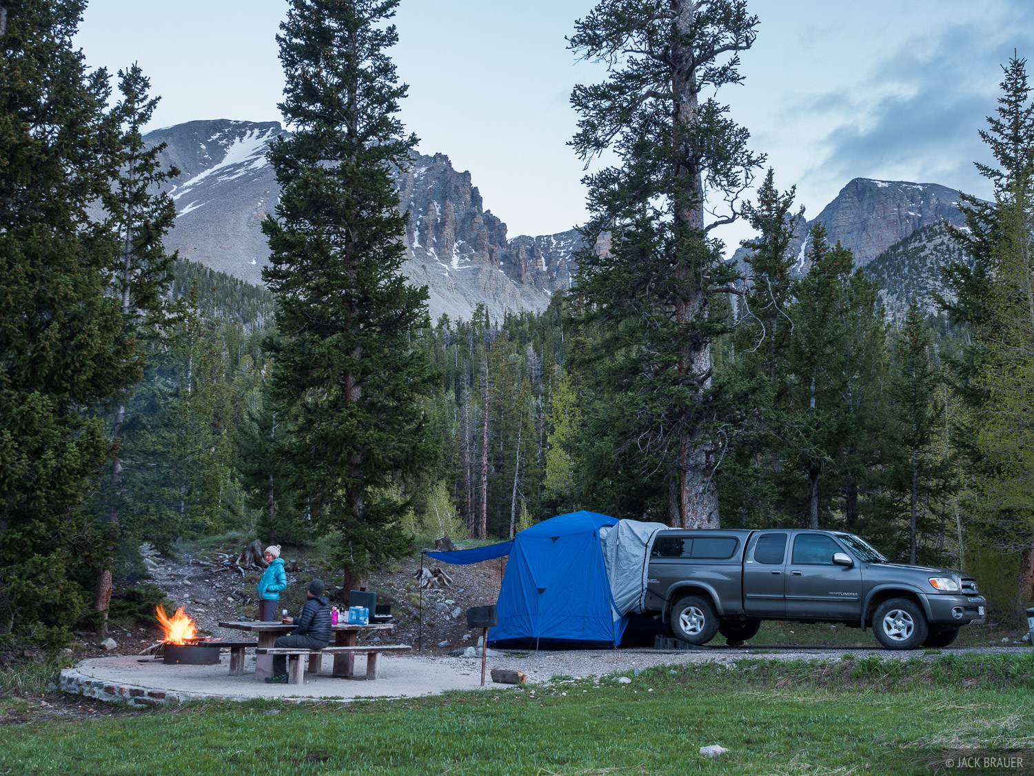 Another night at Wheeler Peak Campground. For this road trip I bought a Napier SUV tent, a car camping tent that has a unique...