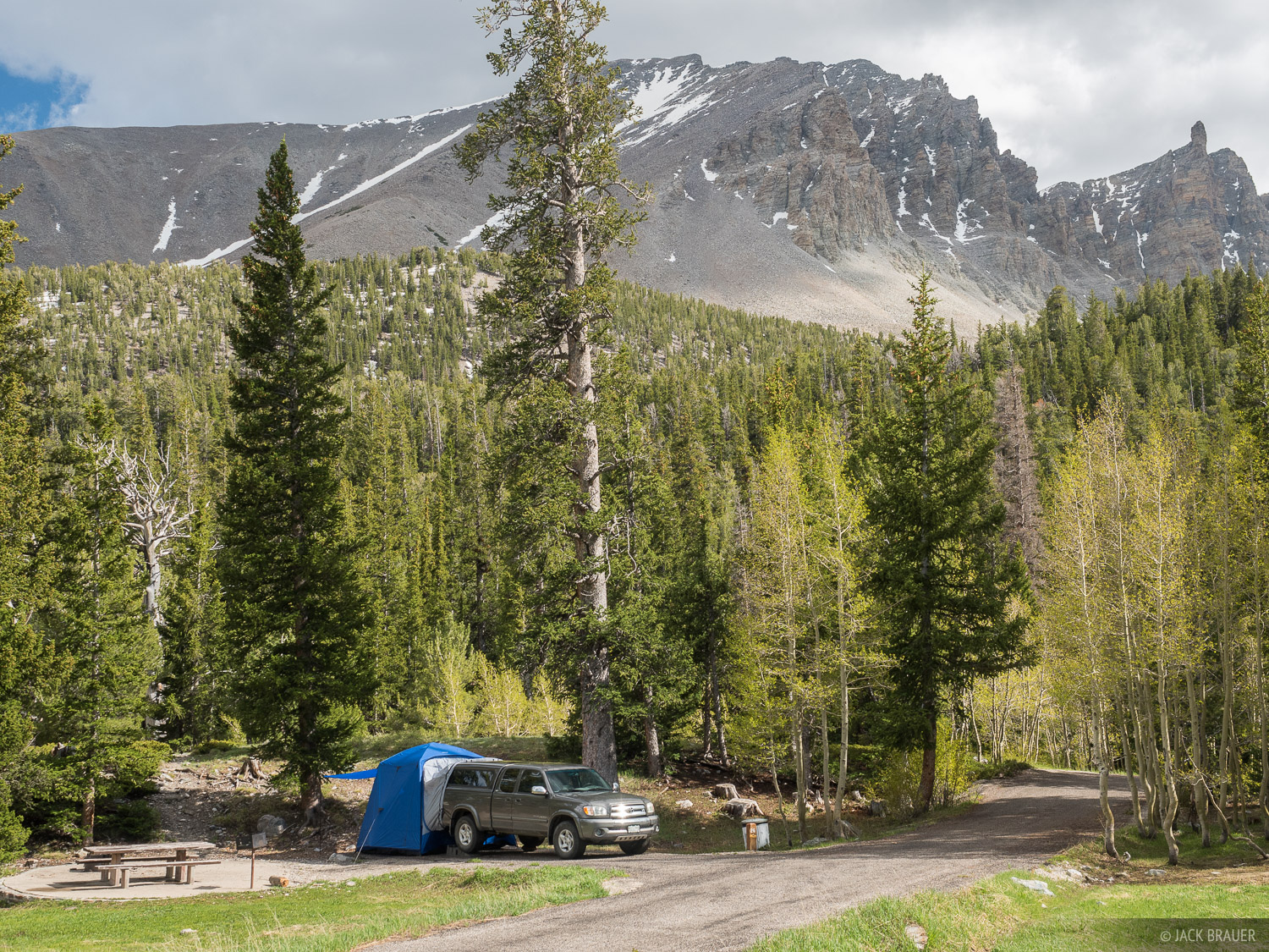 Camping at the Wheeler Peak Campground in Great Basin National Park, Nevada.