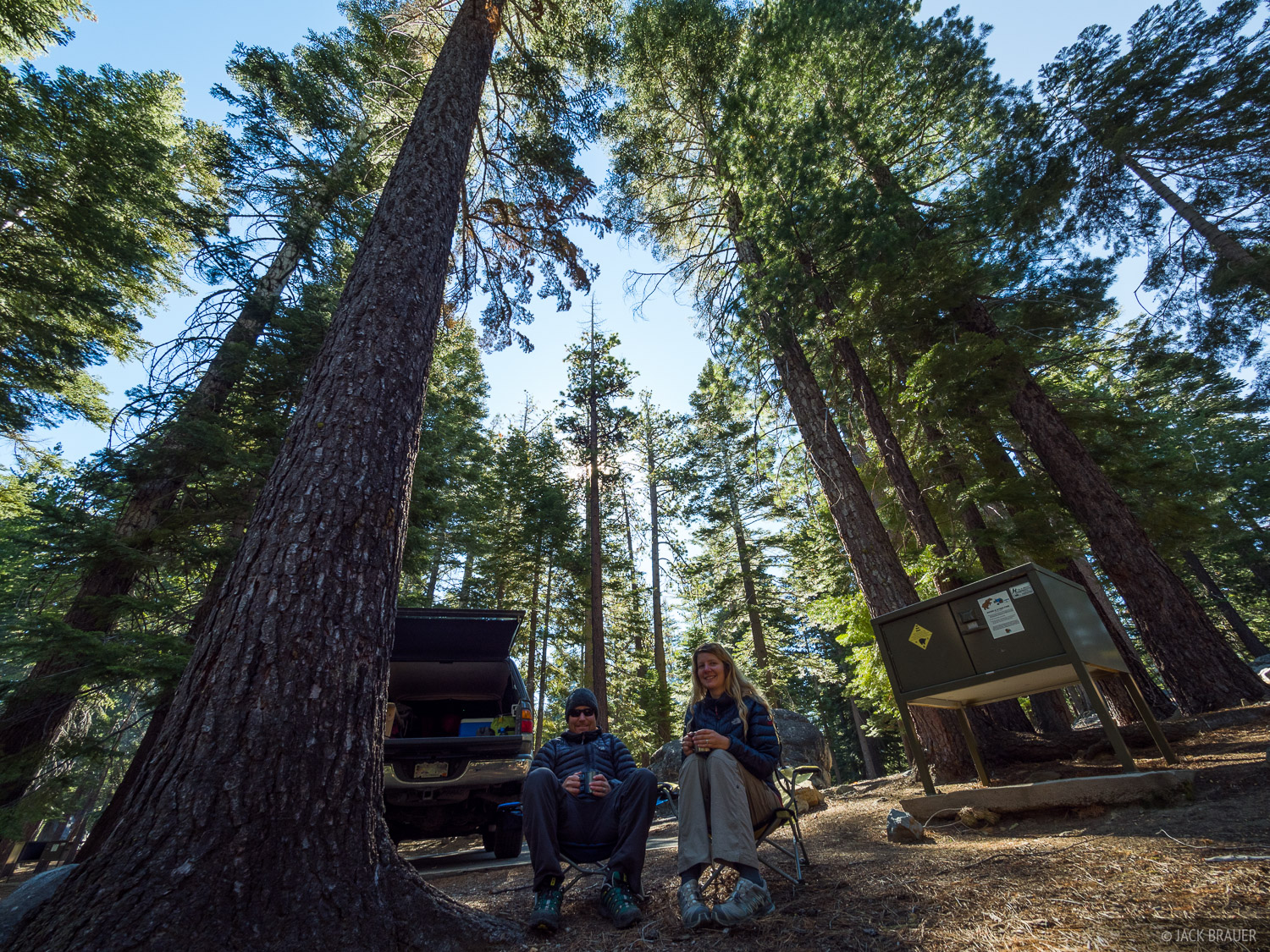Our campsite at the D.L. Bliss State Park Campground at Lake Tahoe, California.