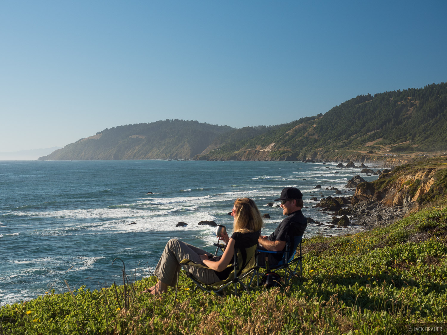 A fantastic campground overlooking the Pacific Ocean at Westport-Union Landing State Beach in northern California.