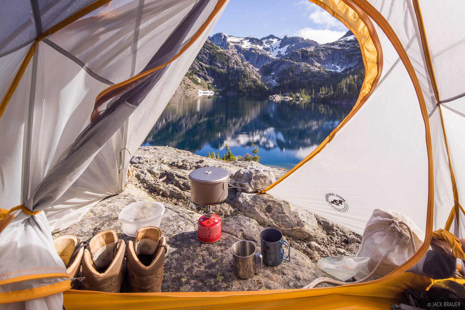 Alpine Lakes Wilderness, Mount Daniel, Spade Lake, Washington, tent, Cascades