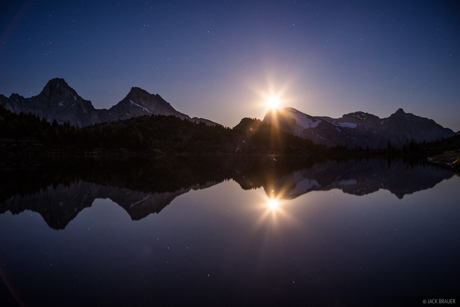 British Columbia, Canada, Canadian Rockies, Height of the Rockies, Limestone Lakes, moonlight, BC, photo